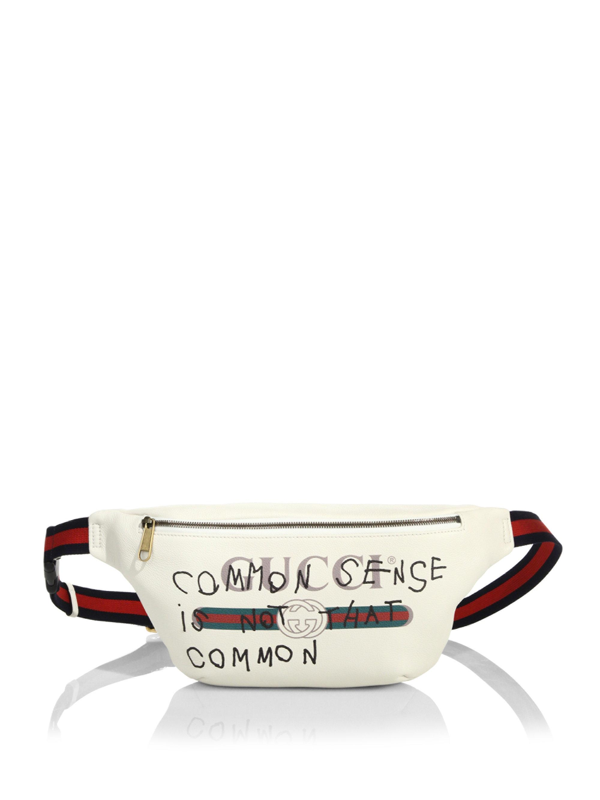 b907c88a1a58 Gucci Fake Waist Bag in White for Men - Lyst