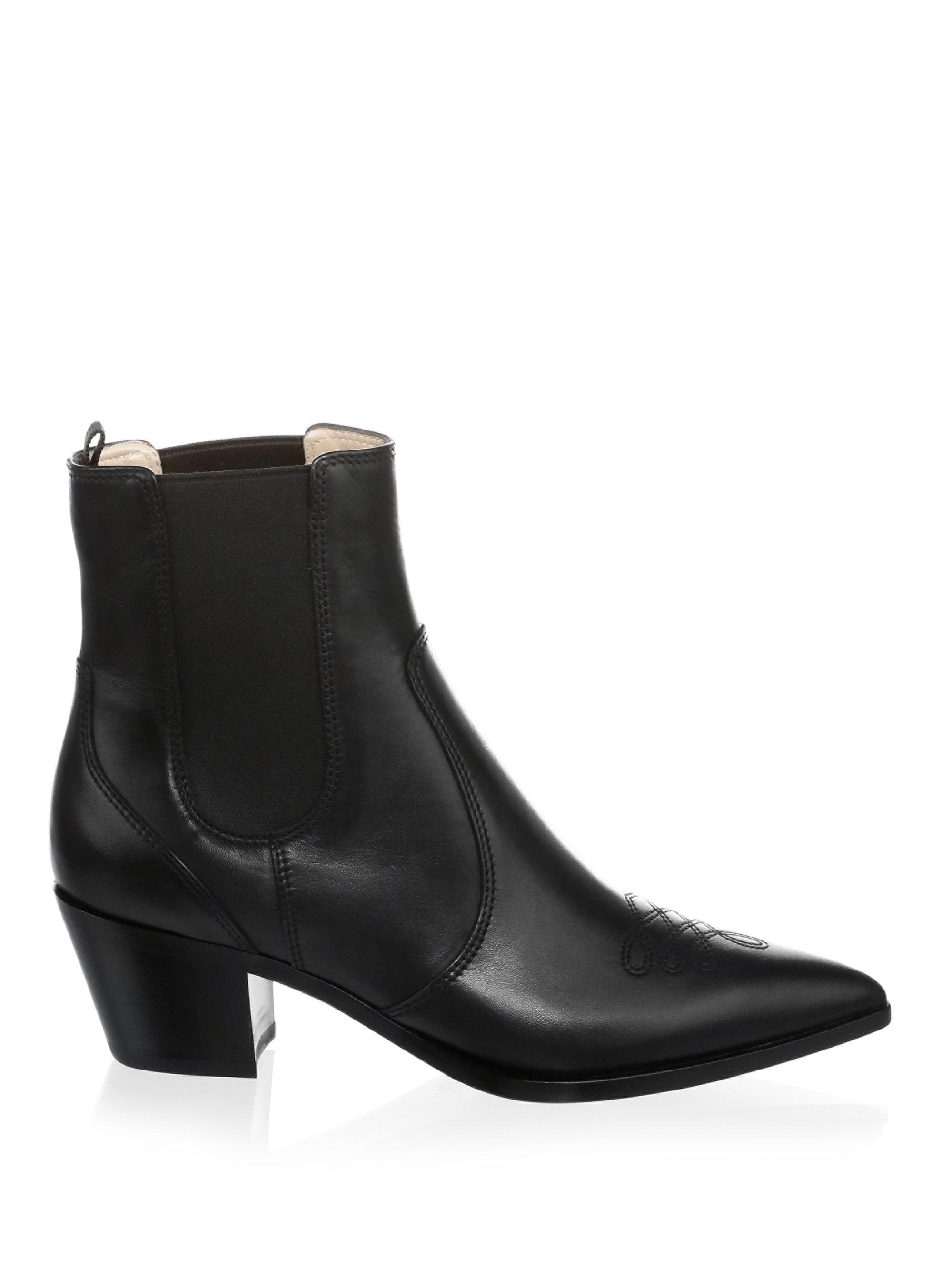 Gianvito Rossi Chelsea Leather Suede Boots M9Yss