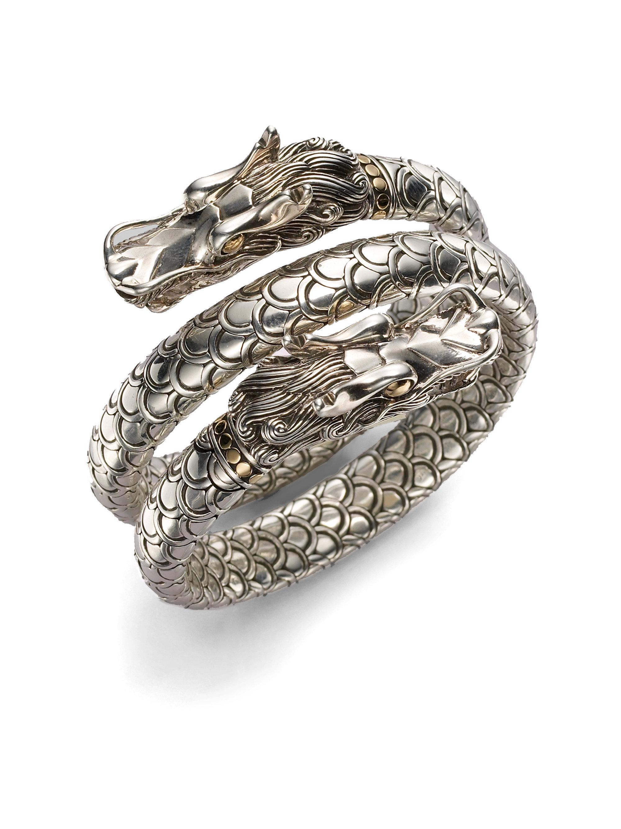 John Hardy Naga Double Coil Bracelet jrSPW6