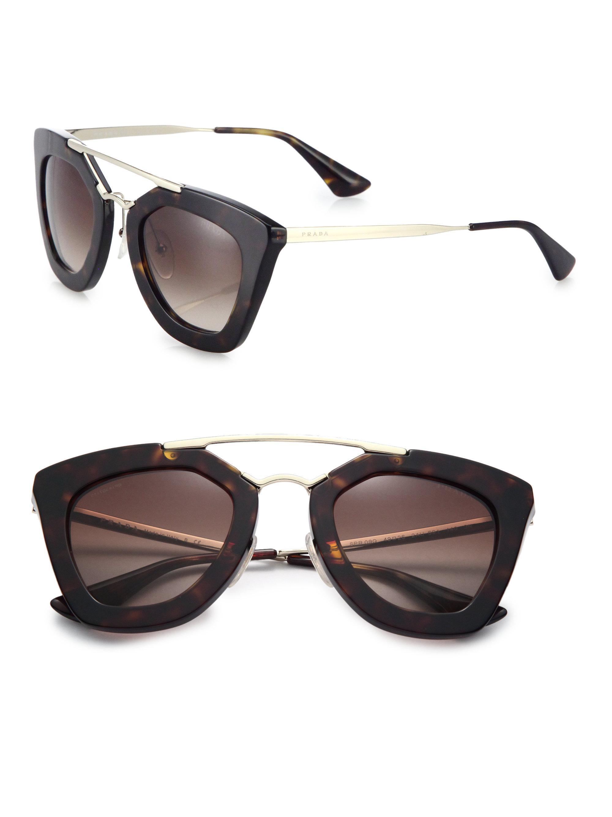 7594e4fa6f ... usa prada brown cats eye sunglasses lyst. view fullscreen 7b94b 28a06  discount prada tortoiseshell ...