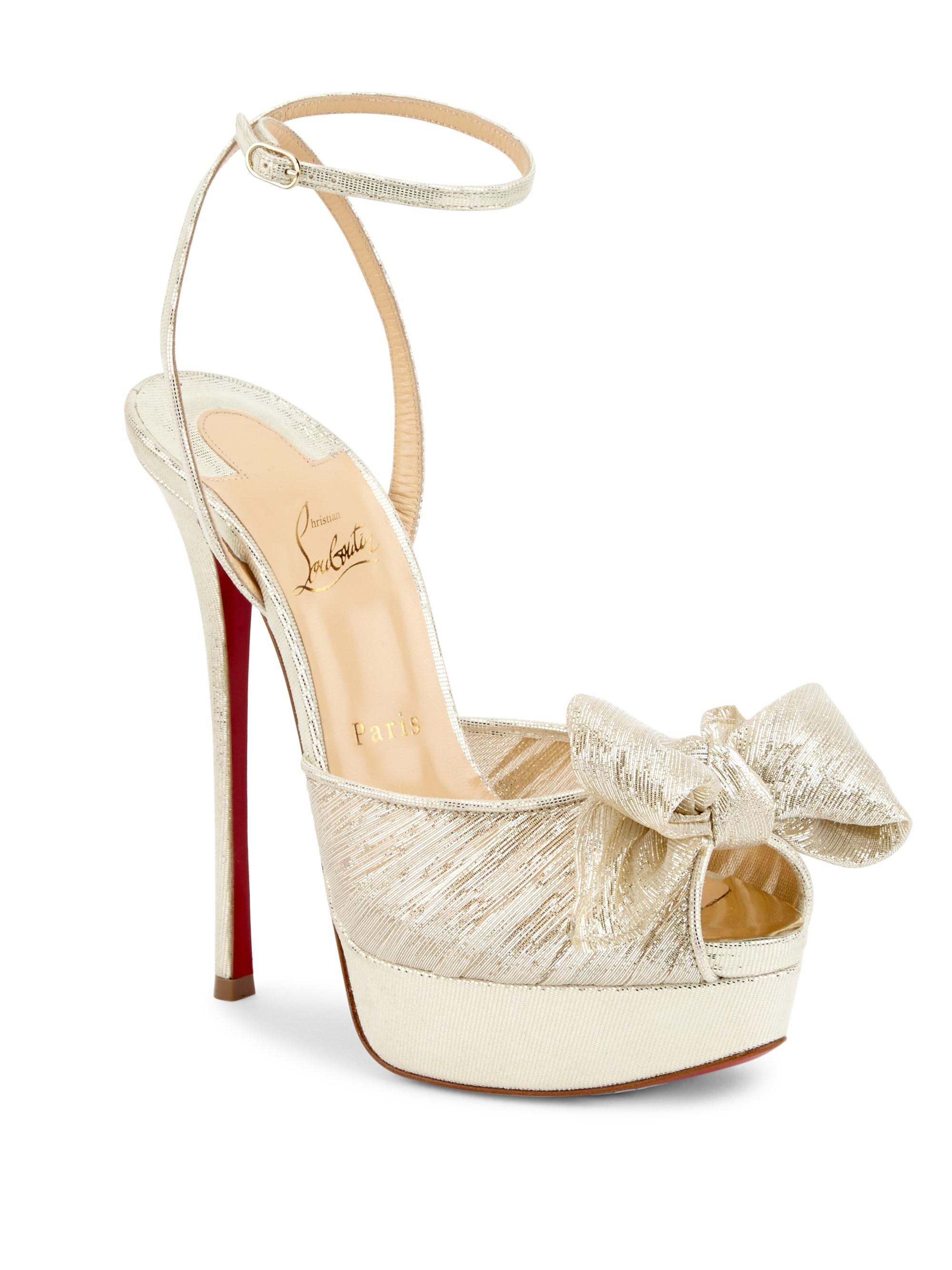 ad79bcc8a02 Christian Louboutin Artydiva 150 Platform Ankle-strap Sandals in ...