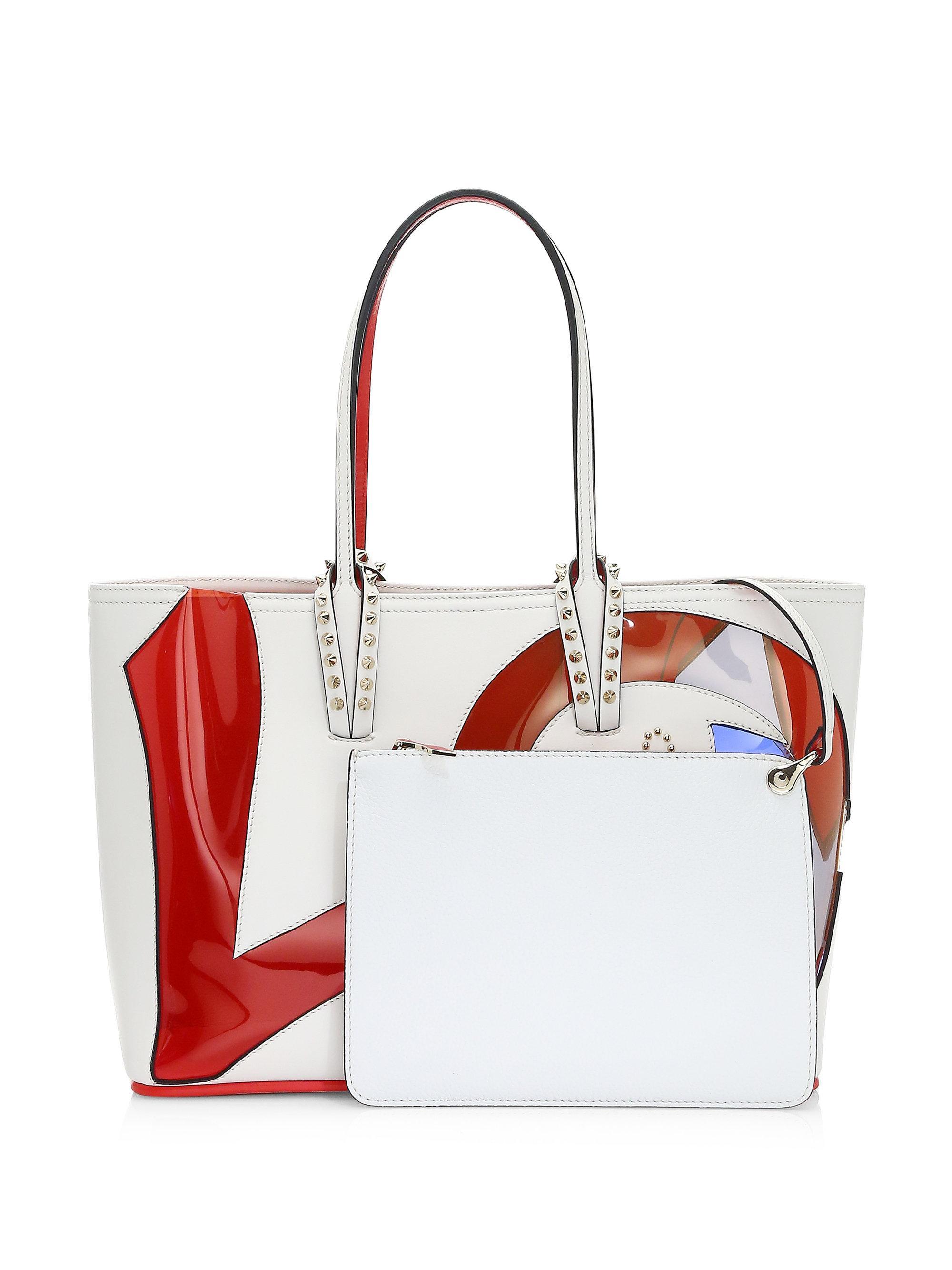 99c817ab2523 Lyst - Christian Louboutin Cabata Love Calf Paris Tote Bag in Red