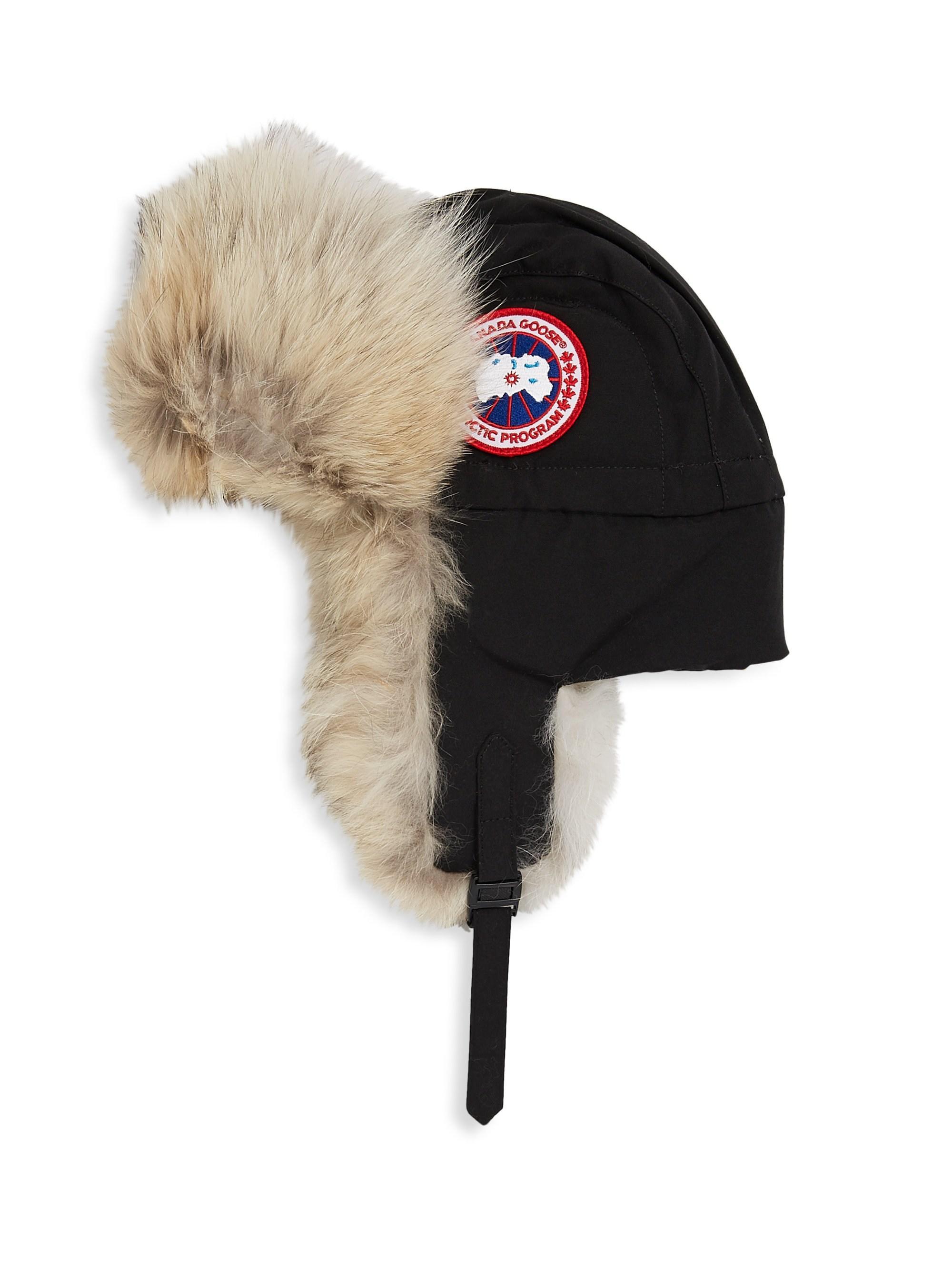 c00de3f7563 Lyst - Canada Goose Men s Aviator Fur Hat - Black - Size S m in ...