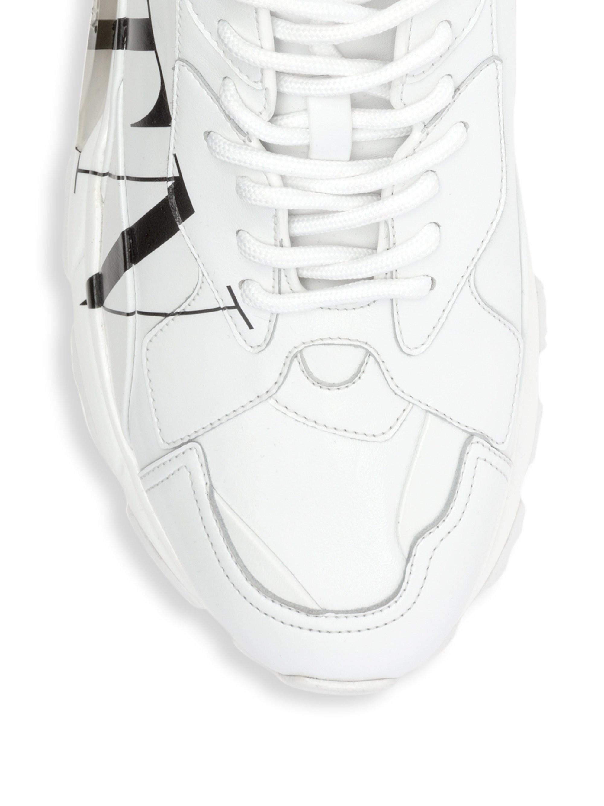 93af759f3447 Lyst - Valentino Men s Vltn Bounce Chunky Sneakers - Bianco Latte in White  for Men - Save 2%