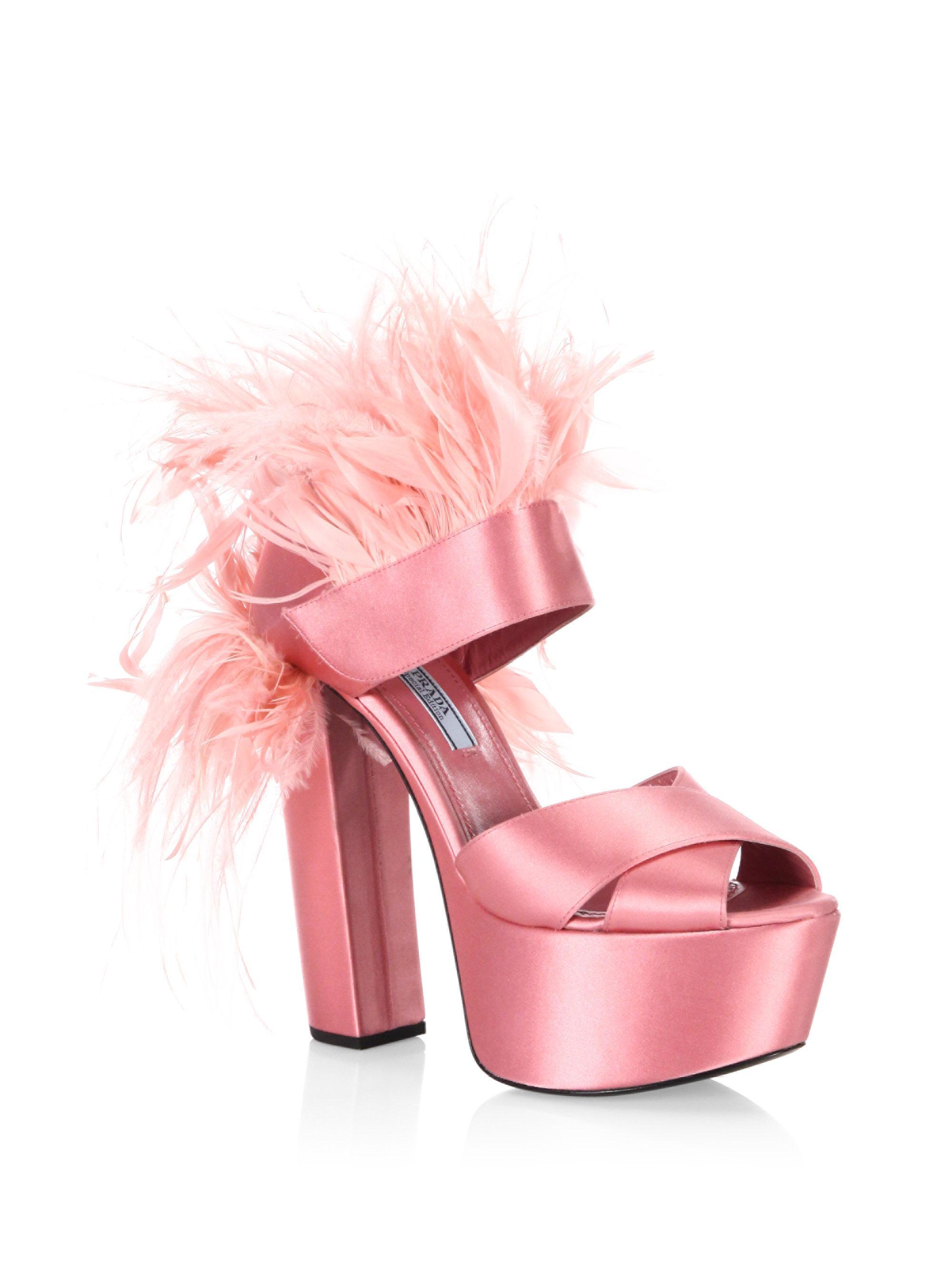 Embellished Satin Sandals - Pink Prada vbjYe