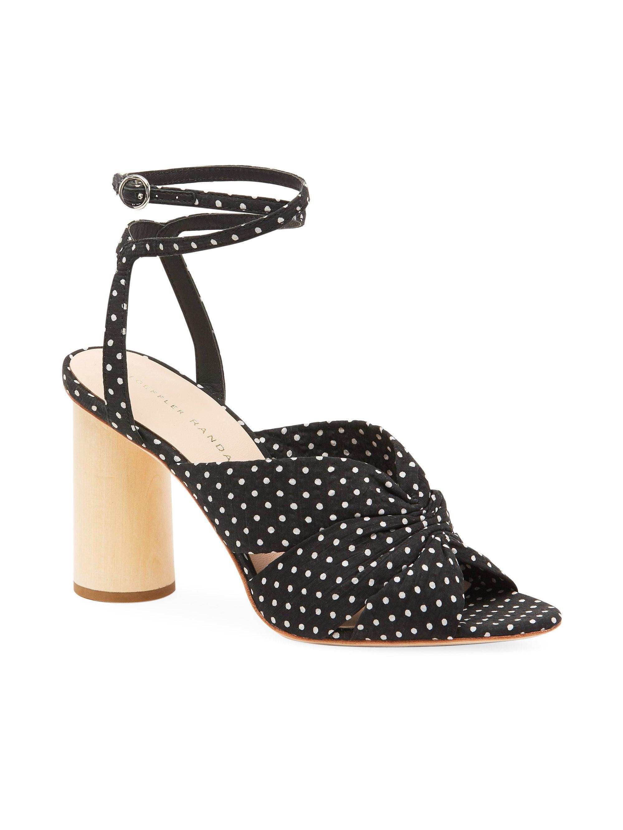 6caf77933621 Lyst - Loeffler Randall Tatiana Ankle-strap Cinched Sandals in Black