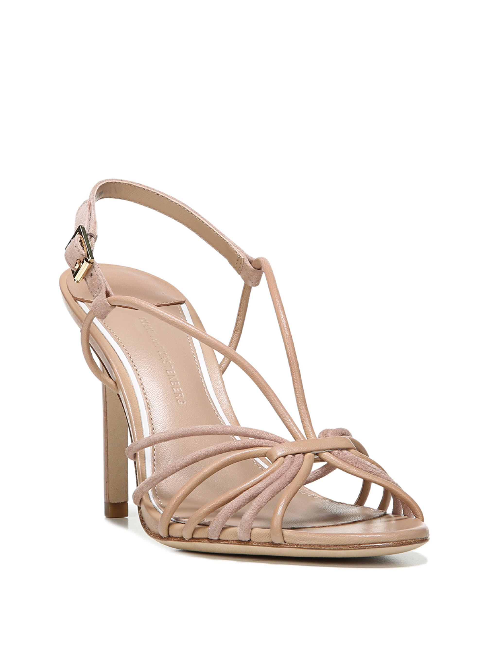 Diane von Furstenberg. Women's Natural Milena Suede Slingback Sandals