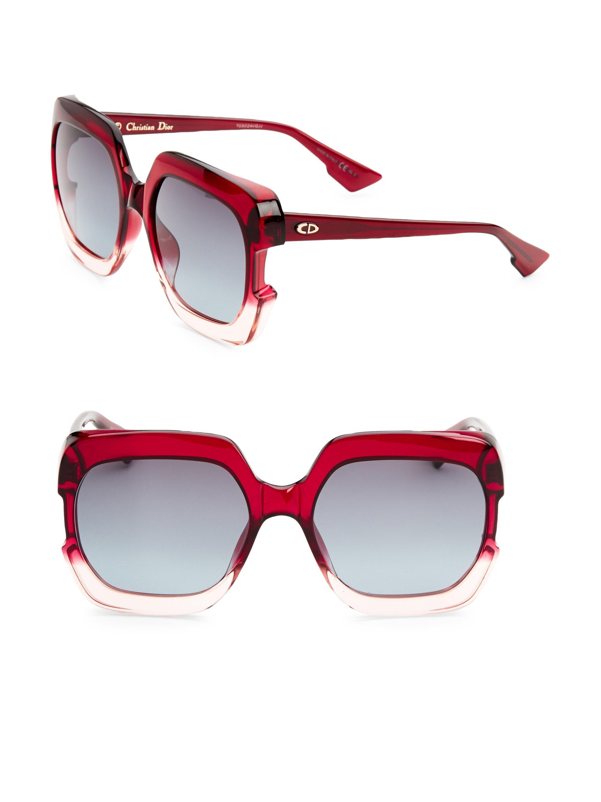 Gaia square-frame acetate sunglasses Dior AitLin