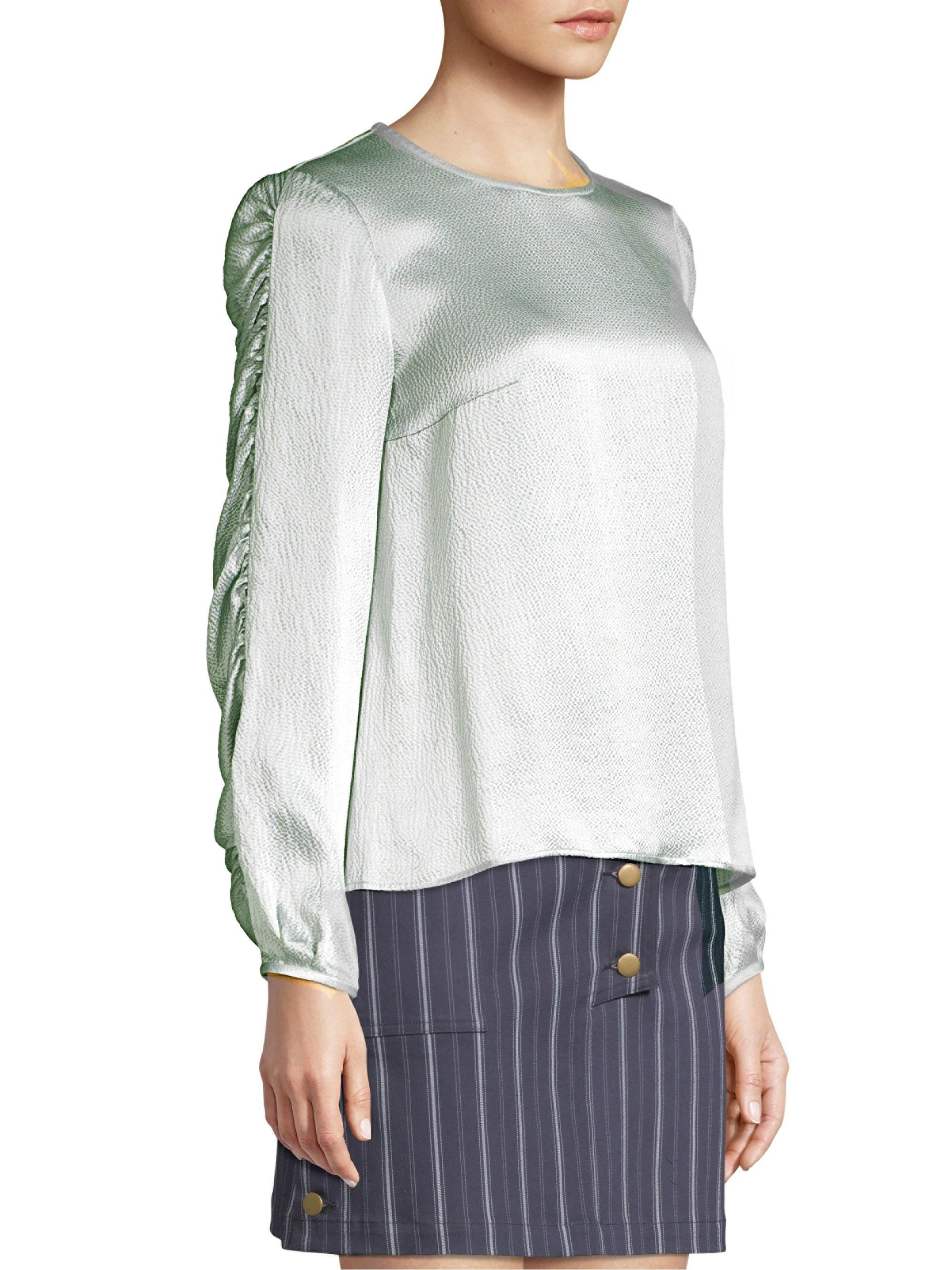 1a4a90f5e975a AMUR Alena Silk Top - Lyst
