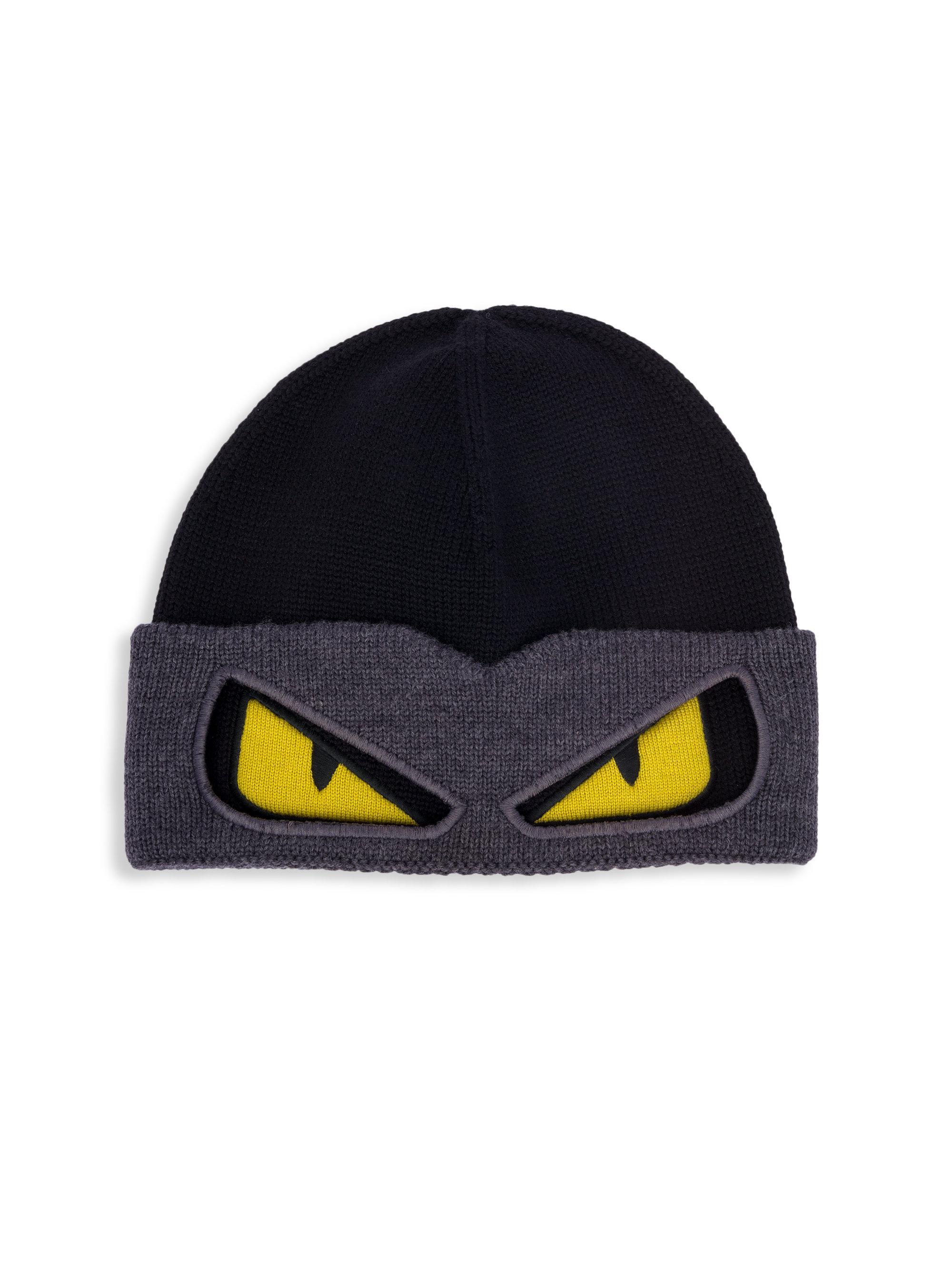 Lyst - Fendi Bag Bugs Convertible Wool Ski Hat in Black for Men a7905237624