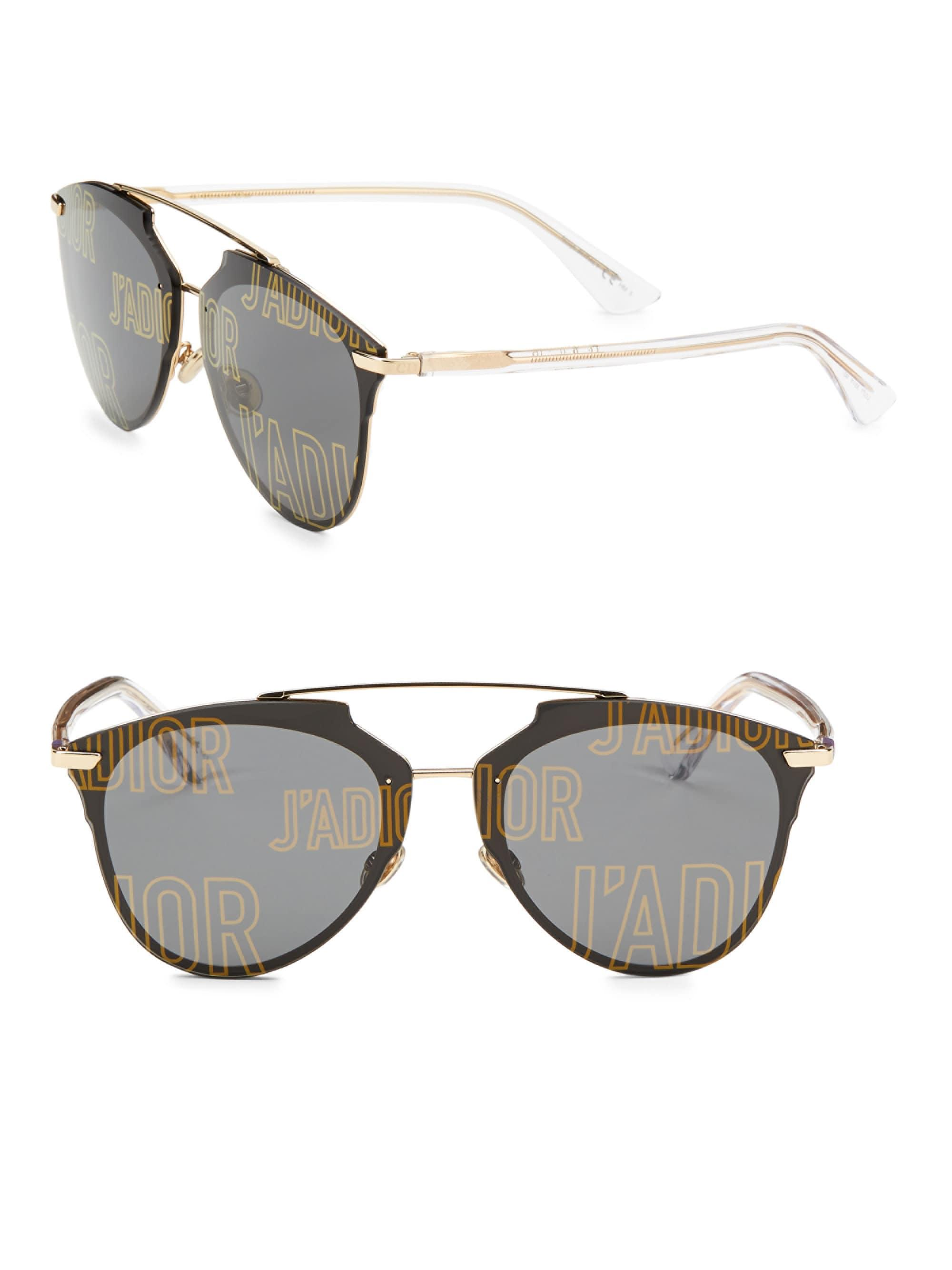 510659b754 Dior. Women s Metallic Reflected Prism 63mm Mirrored Modified Pantos  Sunglasses