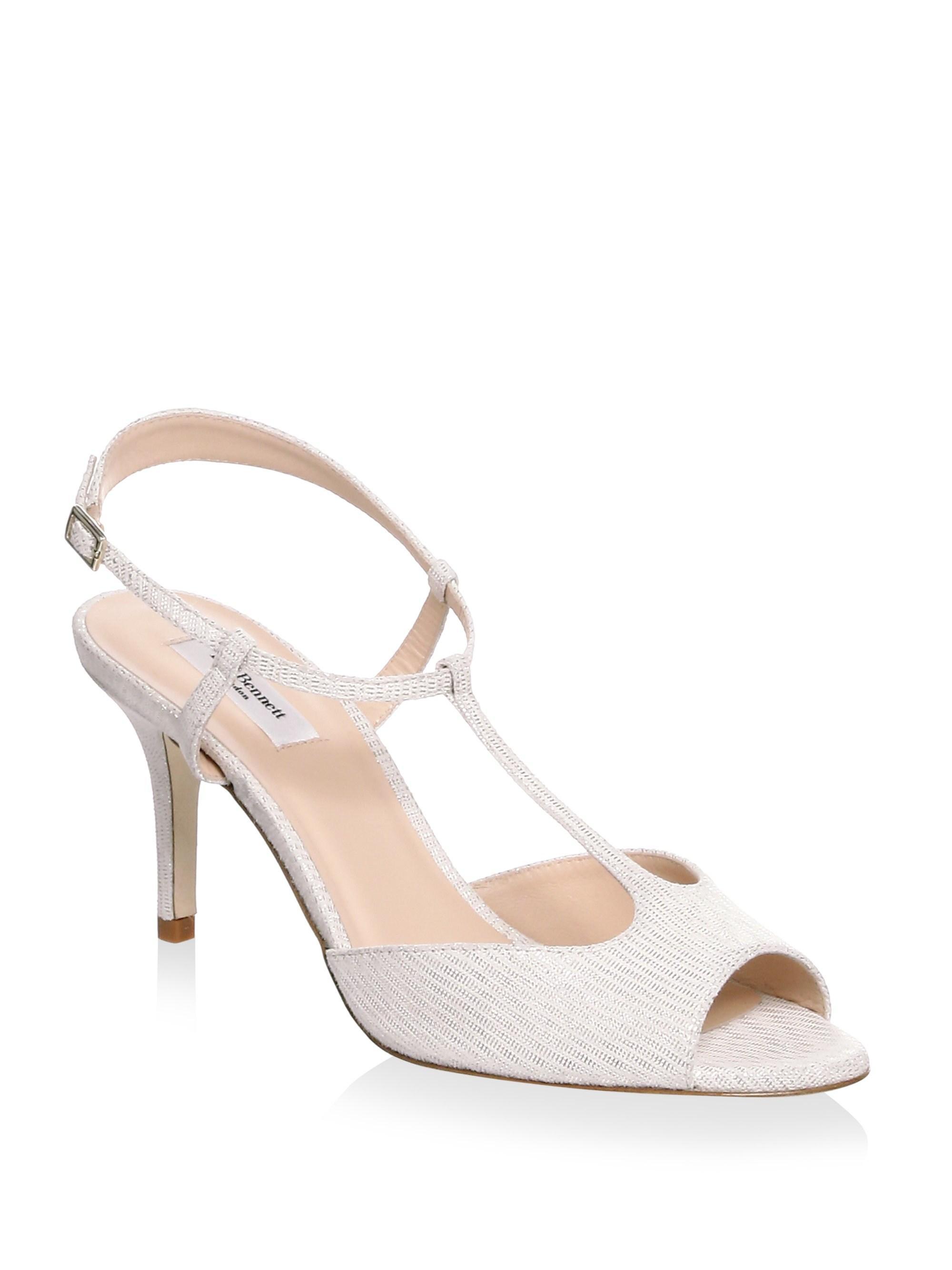 58122ba1429f Lyst - L.K.Bennett Quinn Suede Sandals in Metallic