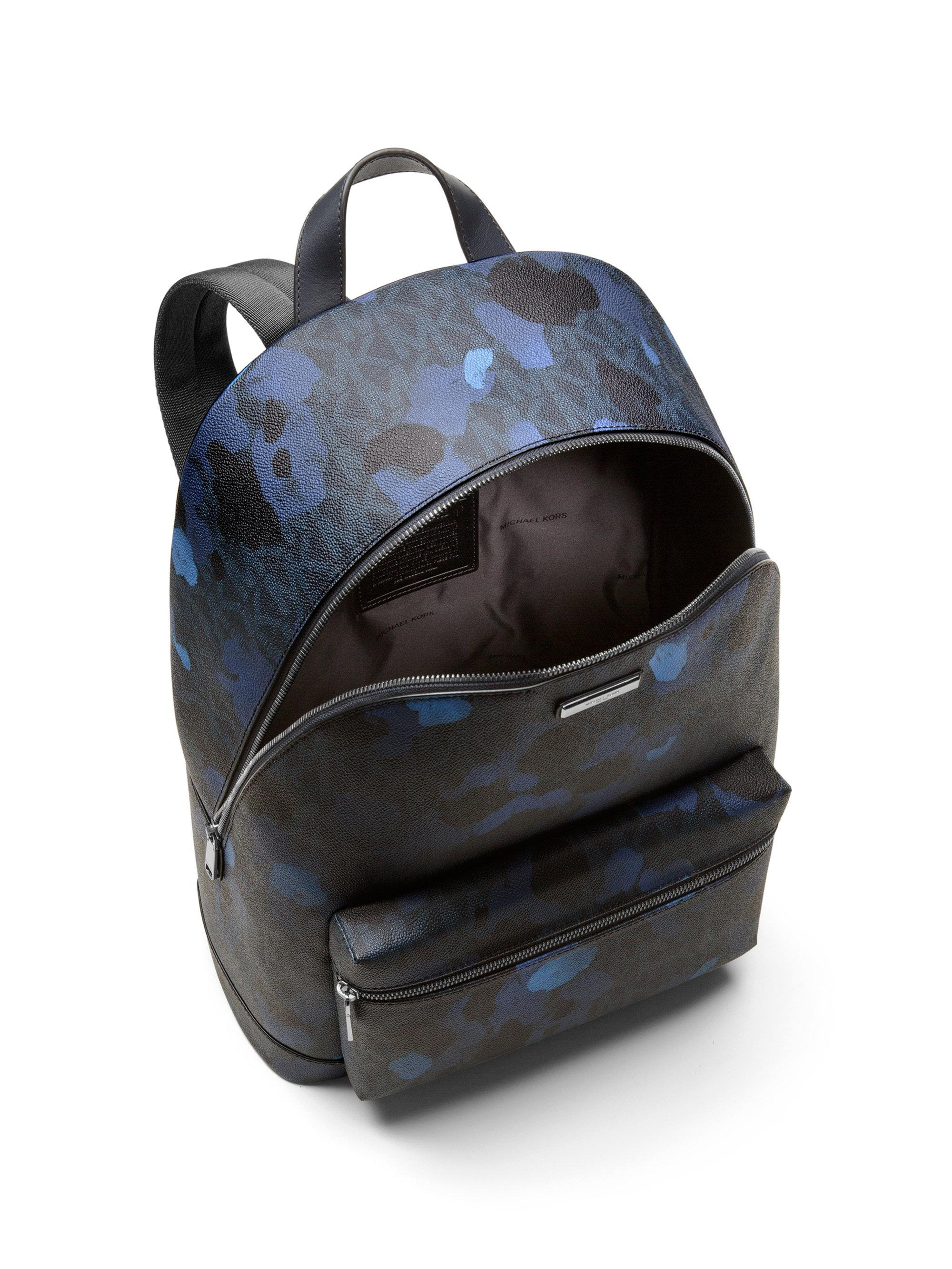 279c72b362f784 ... promo code for lyst michael kors camo printed canvas backpack in blue  for men af962 08832