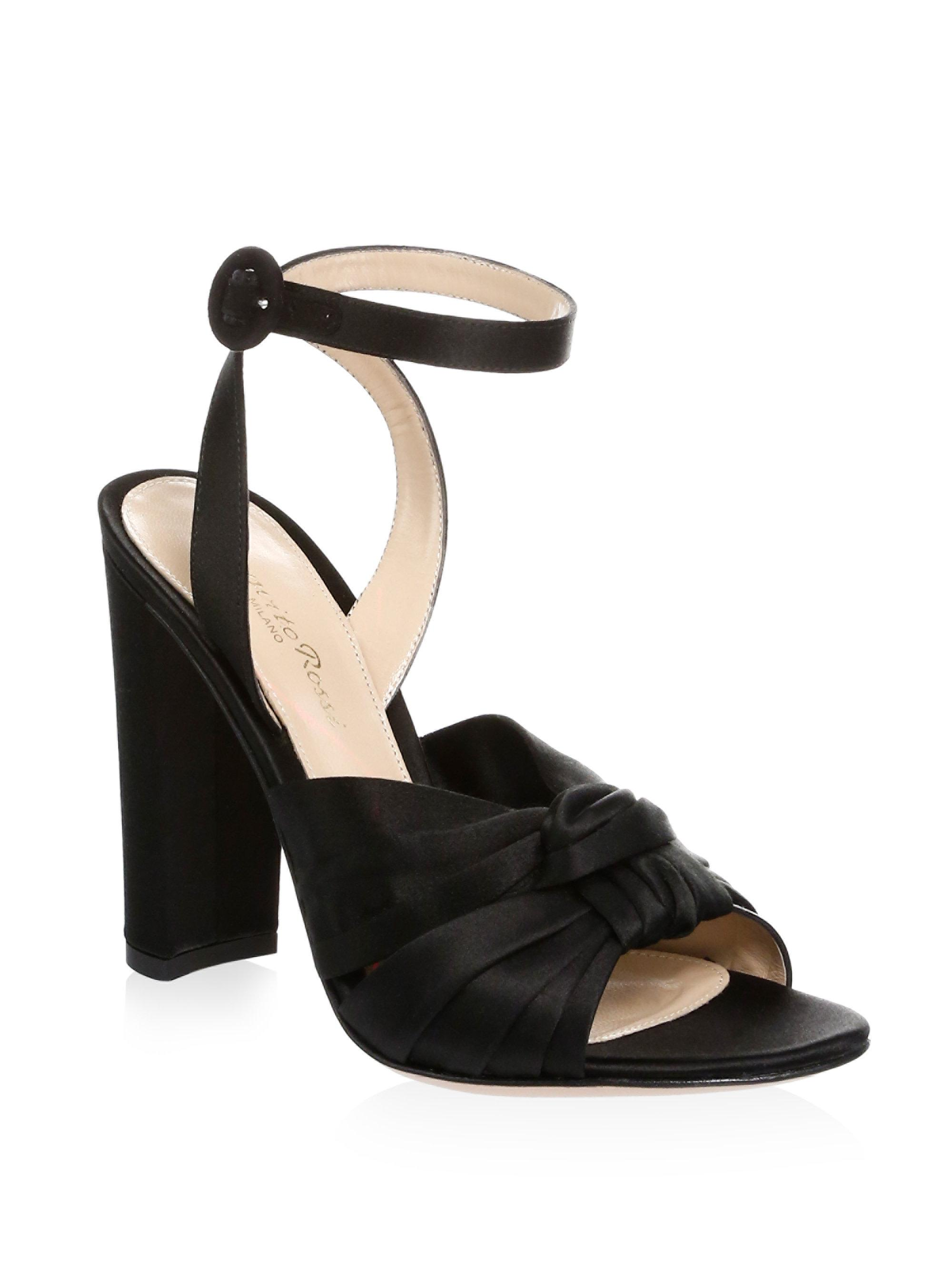 e2ae3603bbd Gianvito Rossi Knot Silk Ankle Strap Pumps mzA5rGx - theplayersbible.com