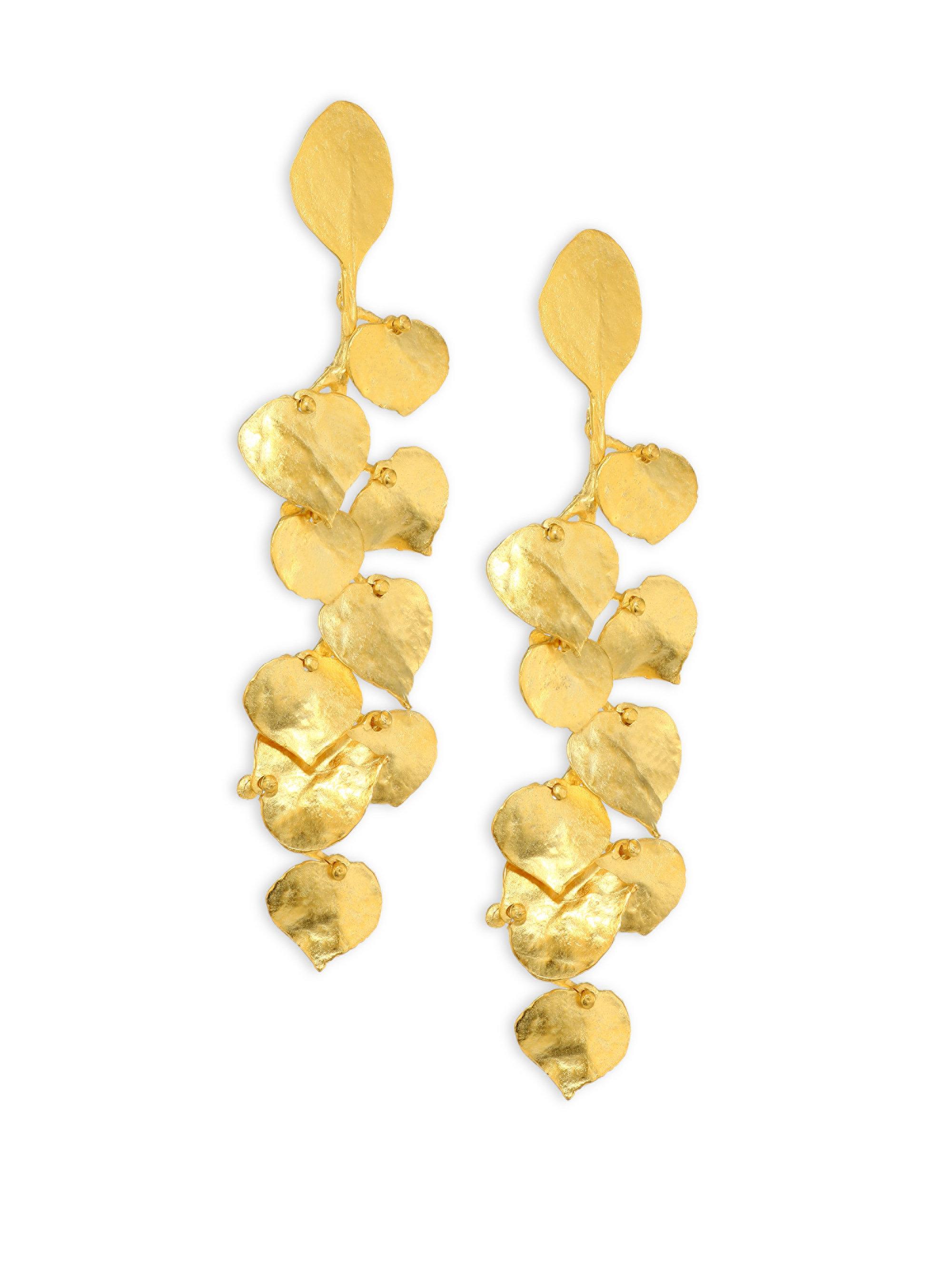 Kenneth Jay Lane Satin Gold Leaf Earrings Satin gold MoJeMKpah