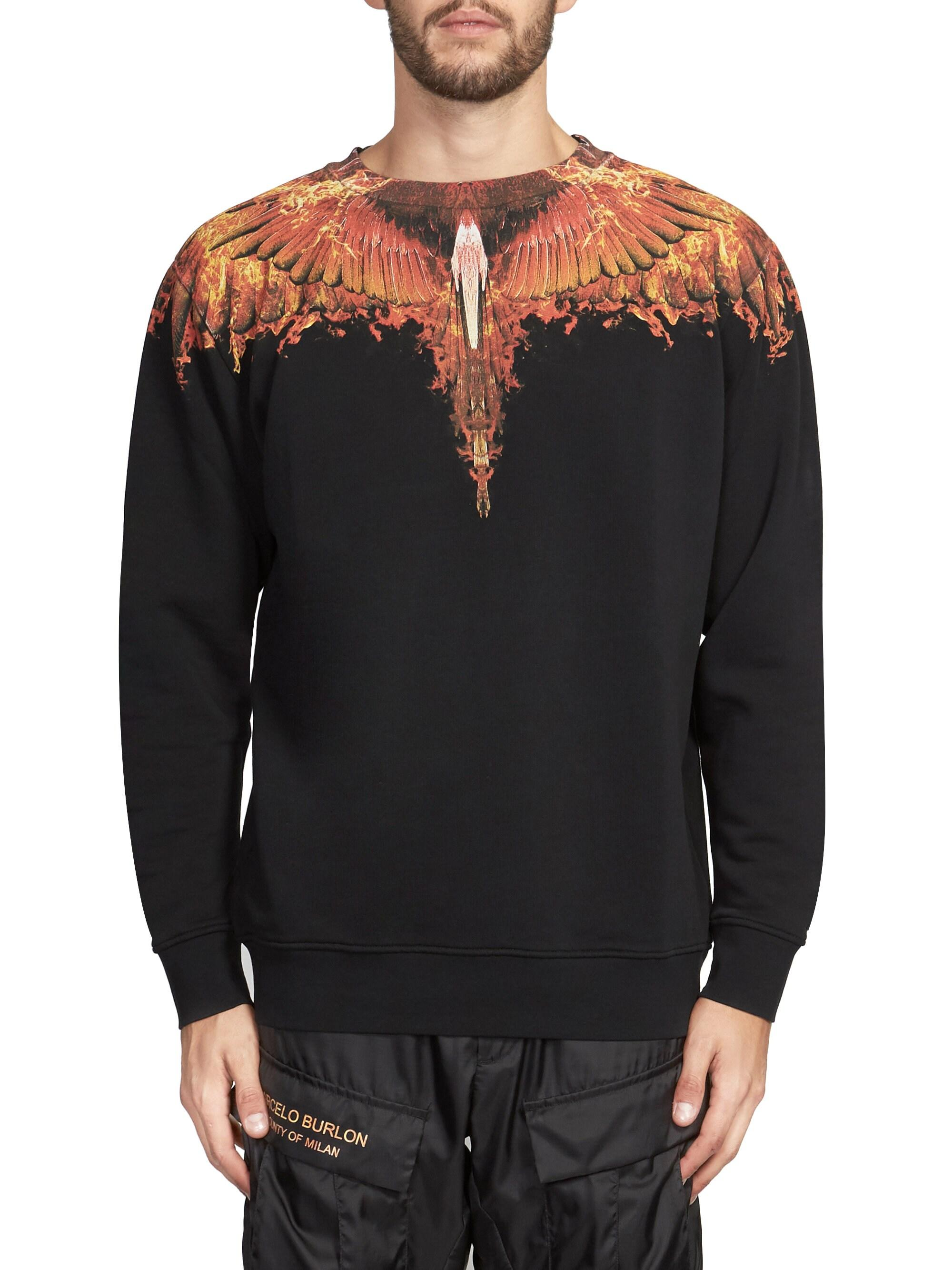 c283349f Marcelo Burlon Men's Flame Wing Cotton Sweatshirt - Black Multi in Black  for Men - Lyst