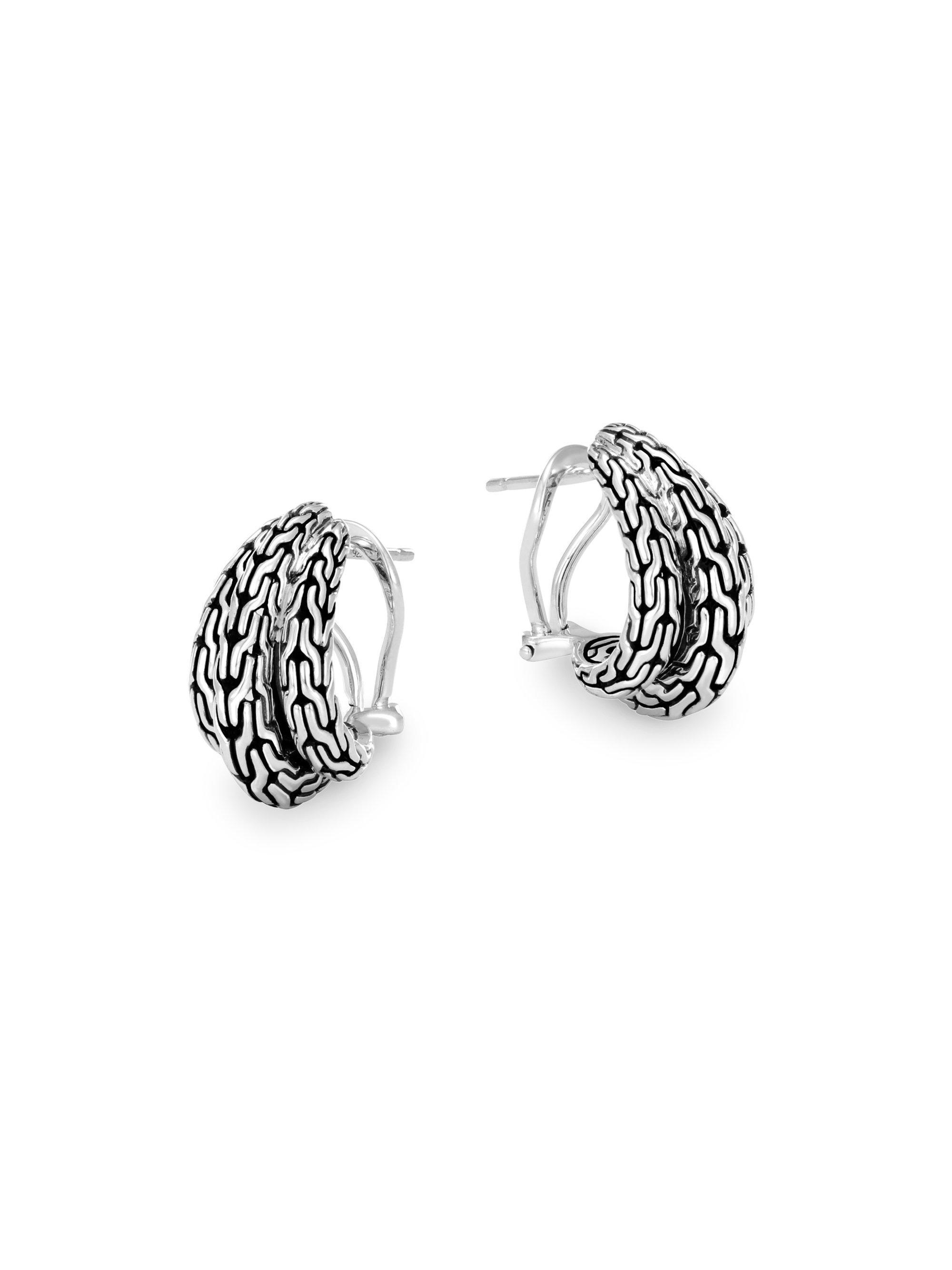 John Hardy Classic Chain Small Huggie Earrings 3aX7tkfqX