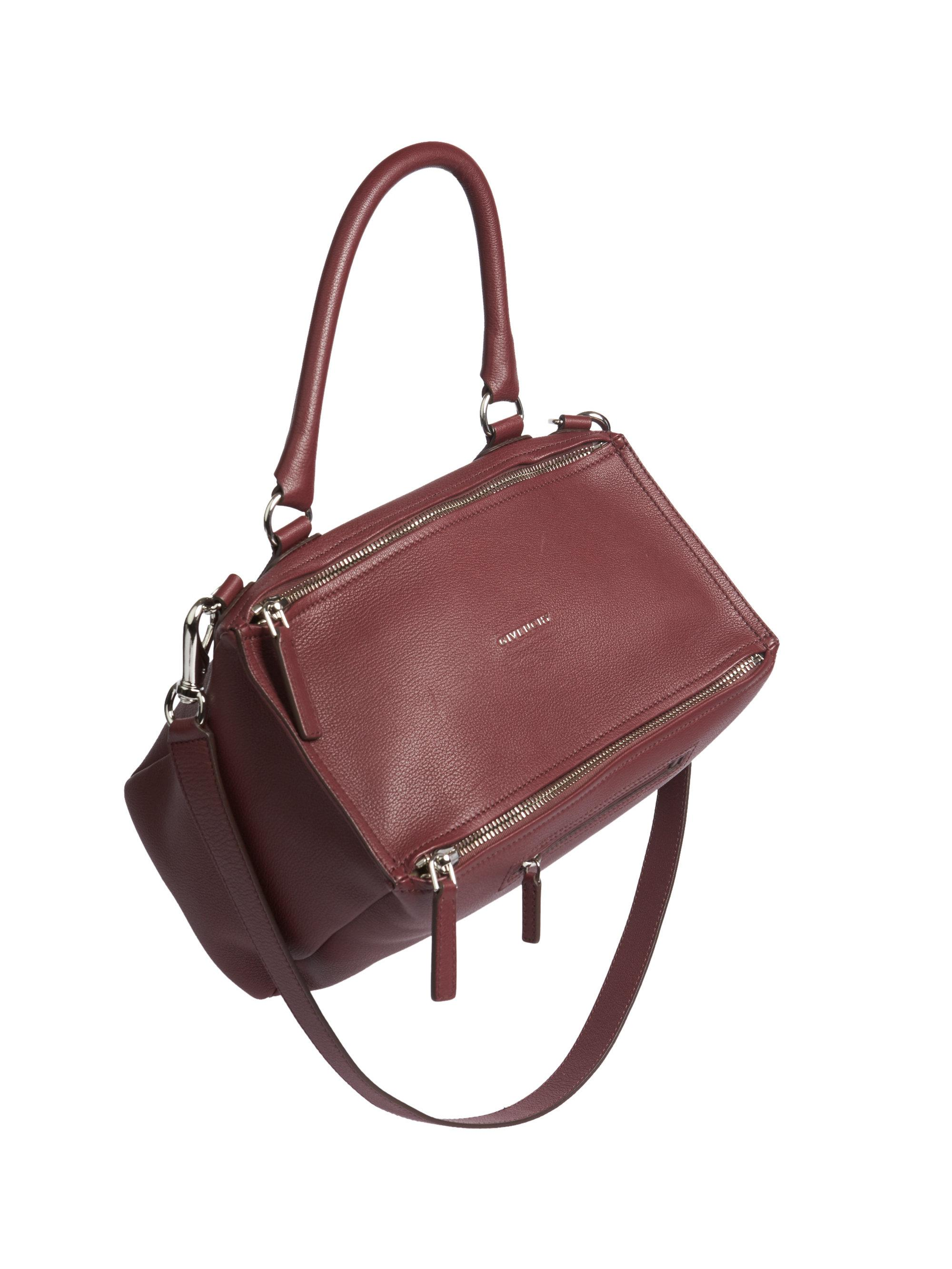 9f246f2f43 Lyst - Givenchy Pandora Medium Leather Shoulder Bag in Red - Save ...