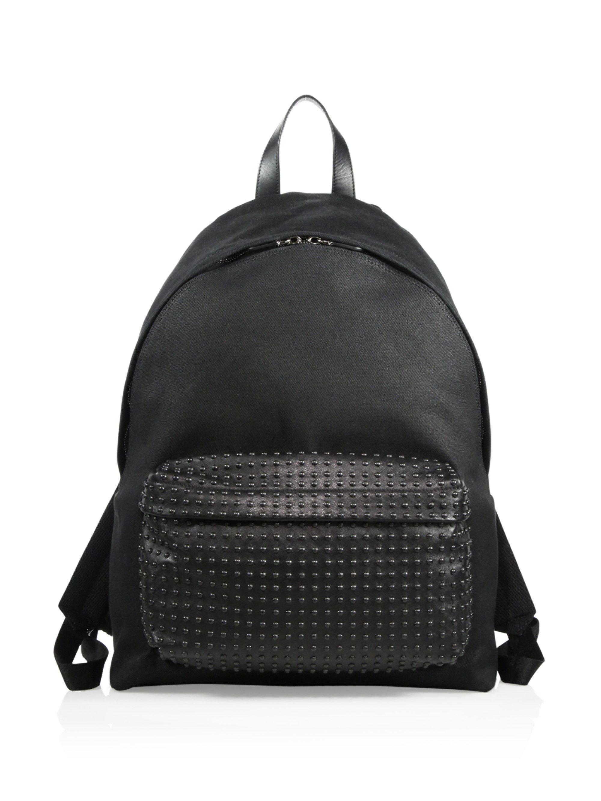 Givenchy Printed Nylon Pocket Backpack, 1990s
