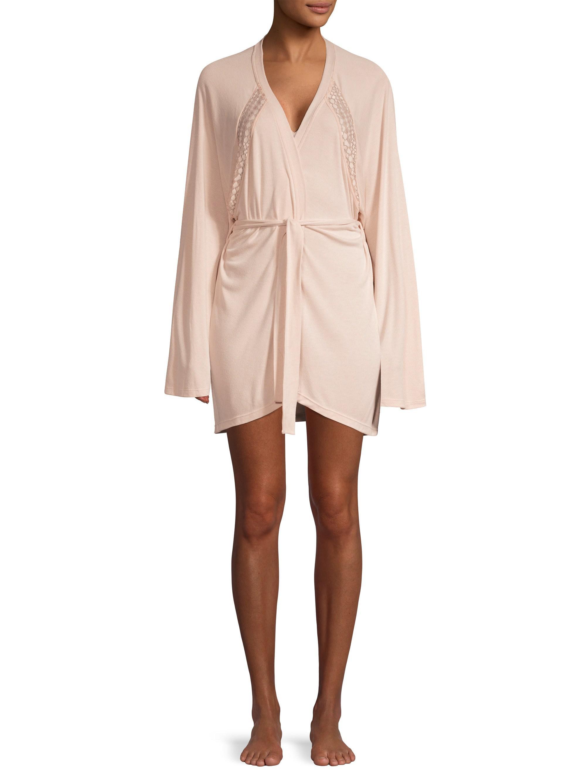 2a7c4595a45a Cosabella - Pink Sweet Dreams Lace-trim Robe - Lyst. View fullscreen
