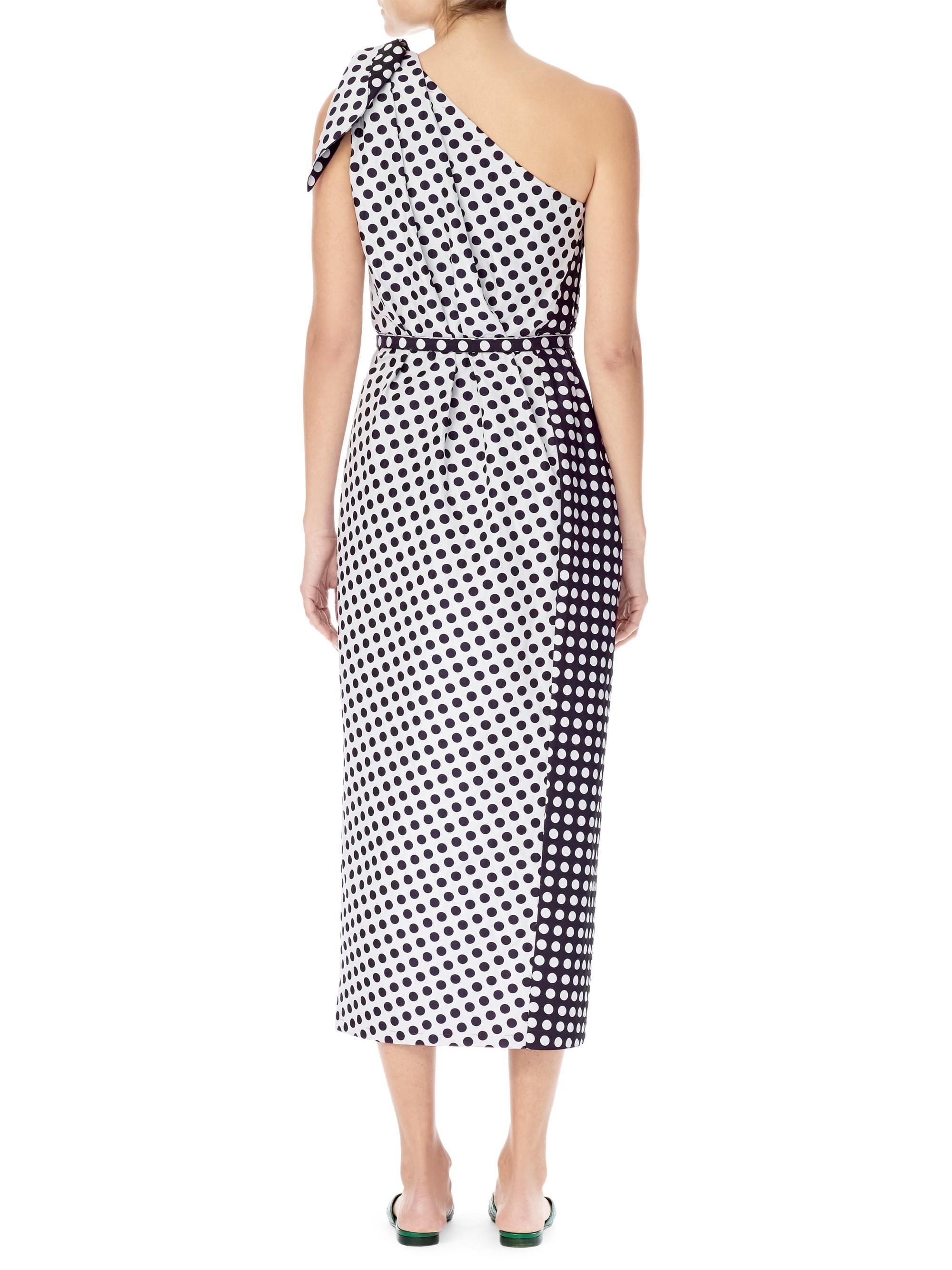 5eae44ed477 Lyst - Carolina Herrera Women s One-shoulder Polka Dot Dress - Midnight  Multi - Size 12