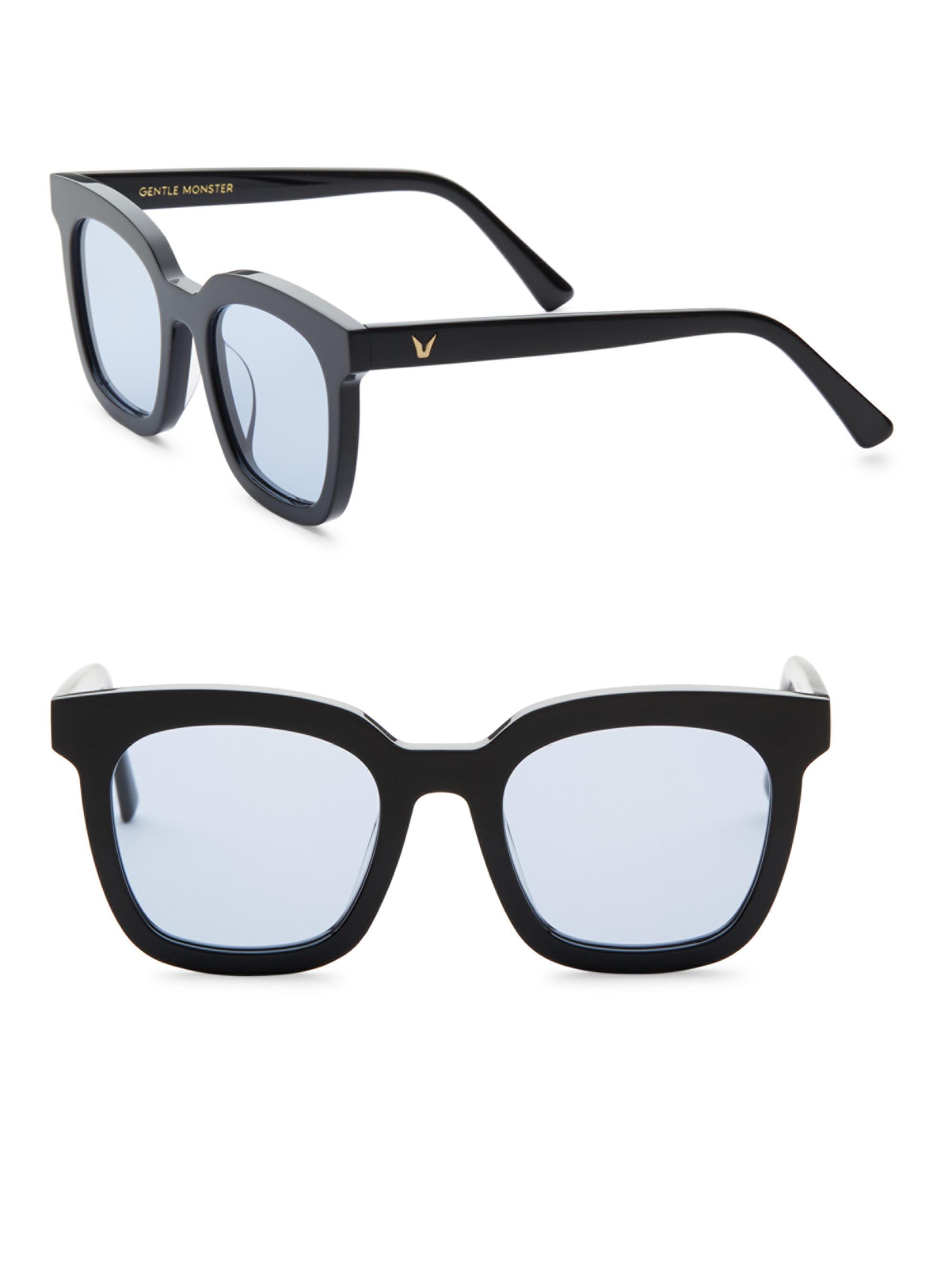 3fa3a2731731 Gentle Monster Finn 50mm Retro Square Sunglasses in Black - Lyst