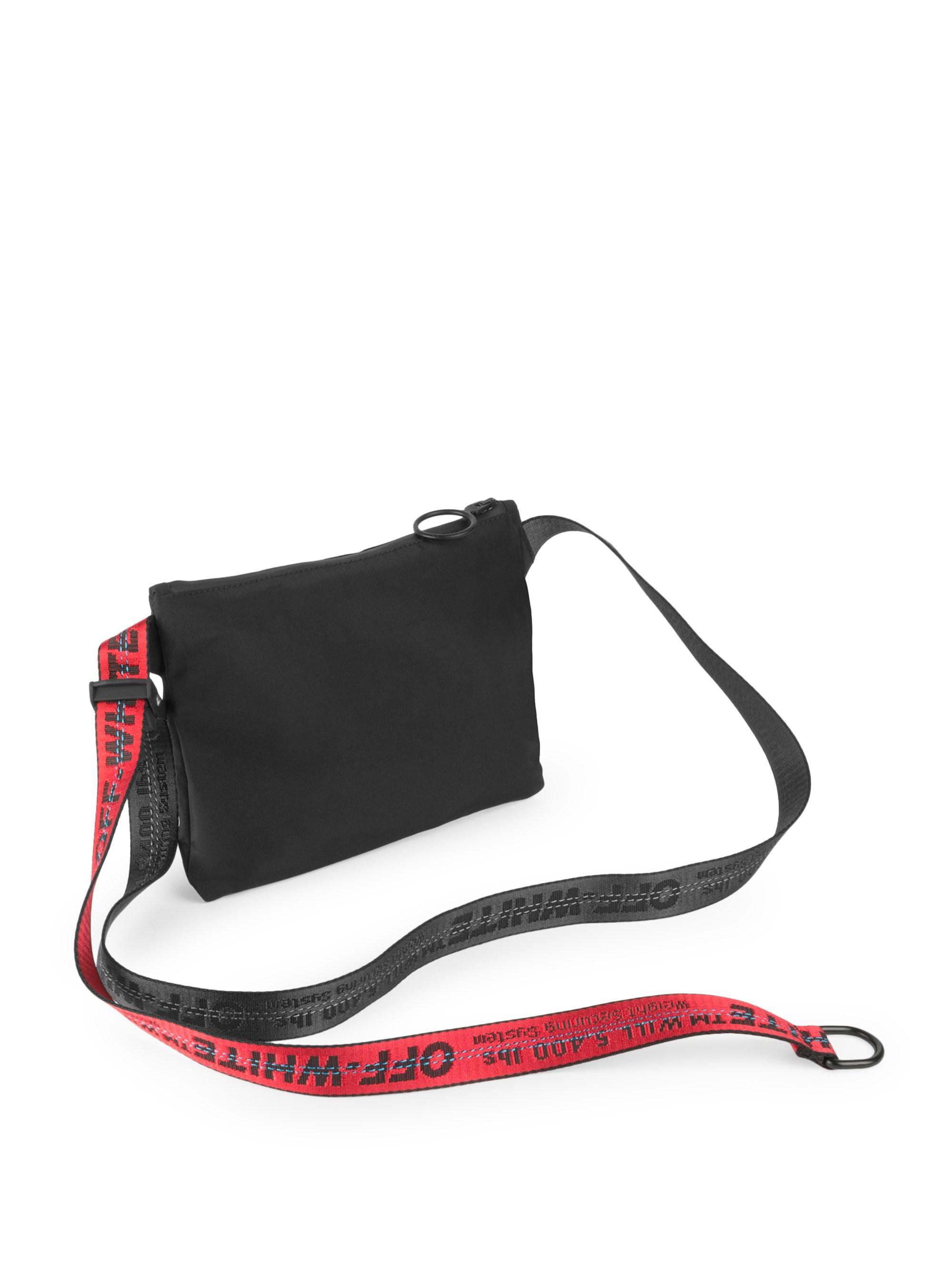 c7377e0d9243 Off-White c o Virgil Abloh Goretex Graphic Crossbody Bag in Black for Men -  Save 23% - Lyst