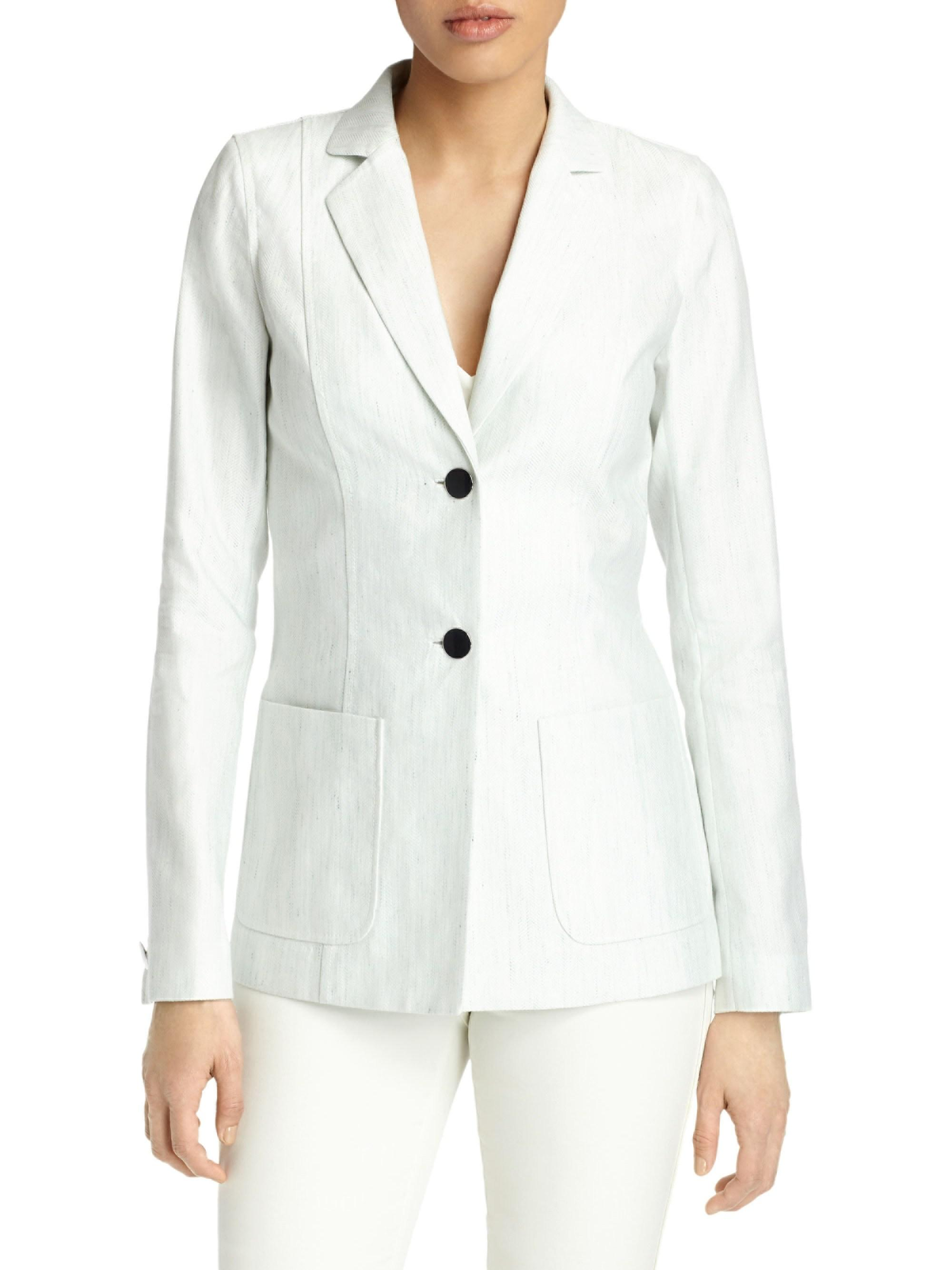 02089e8a928 Lyst - Lafayette 148 New York Kenley Jacket in White