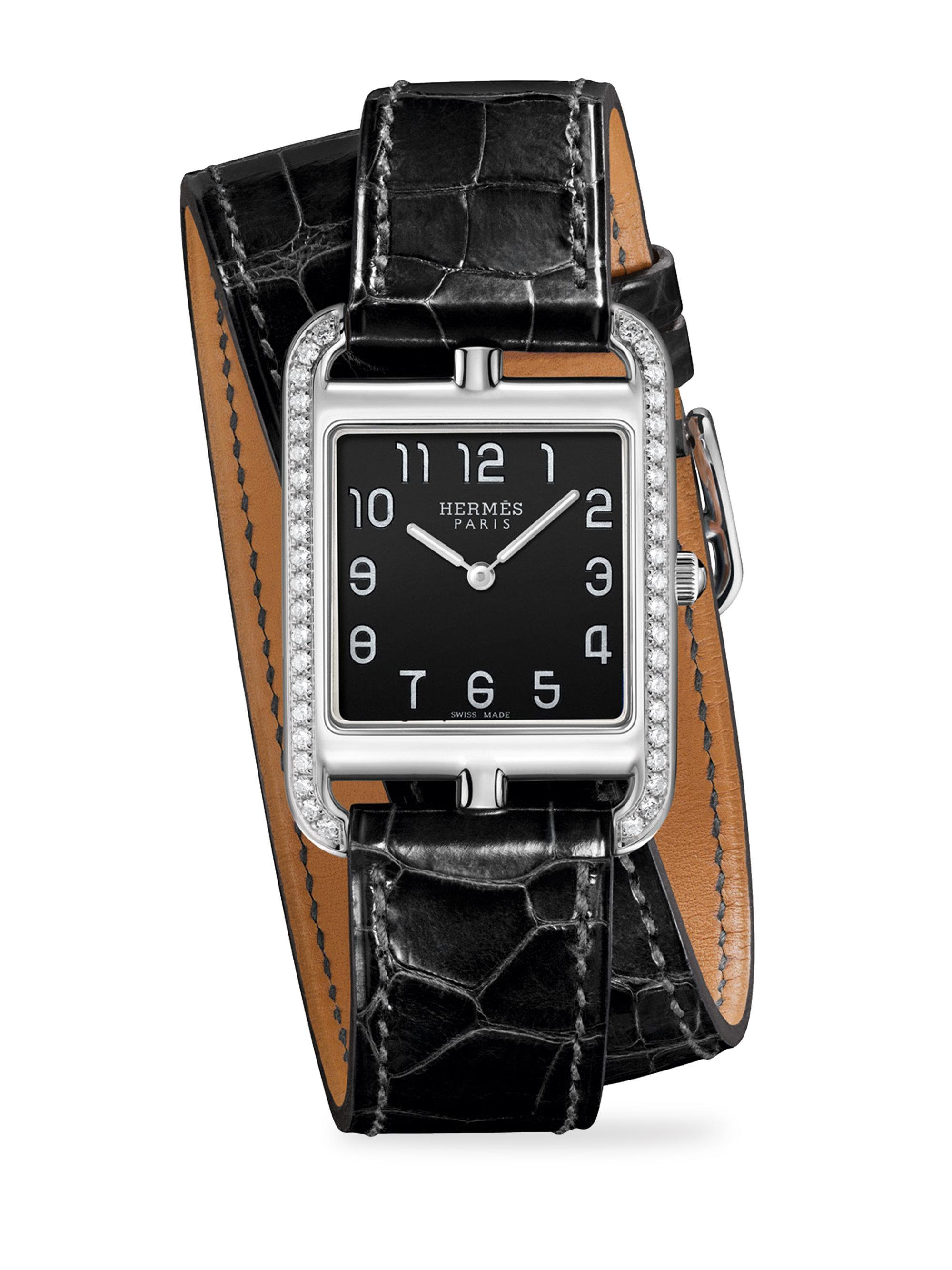 gm hermes strap stainless v arceau sale quartz org wrist watches id for jewelry watch and steel vintage at bracelet h