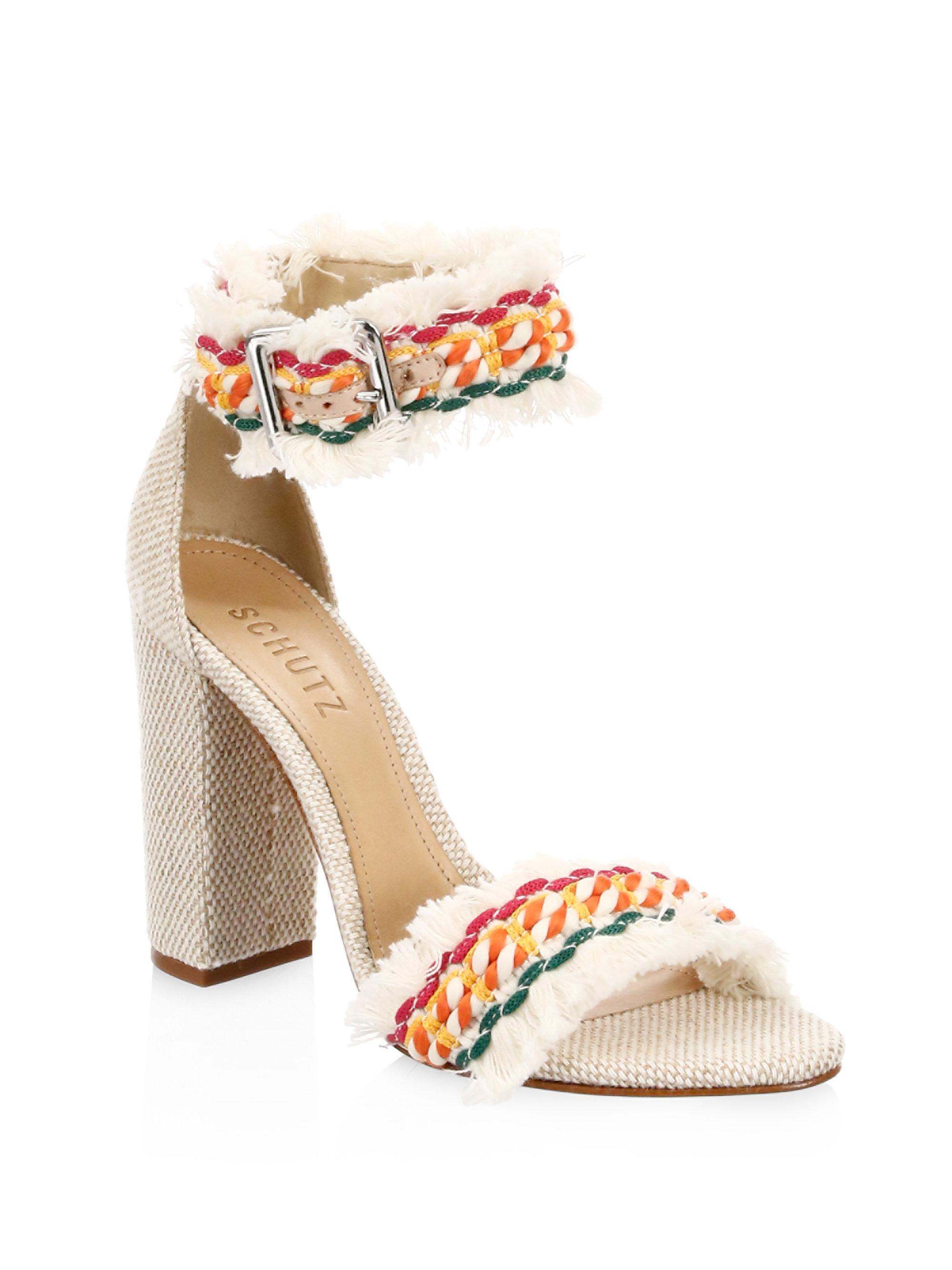 Schutz Zoola Embroidered Sandals tufSwF1