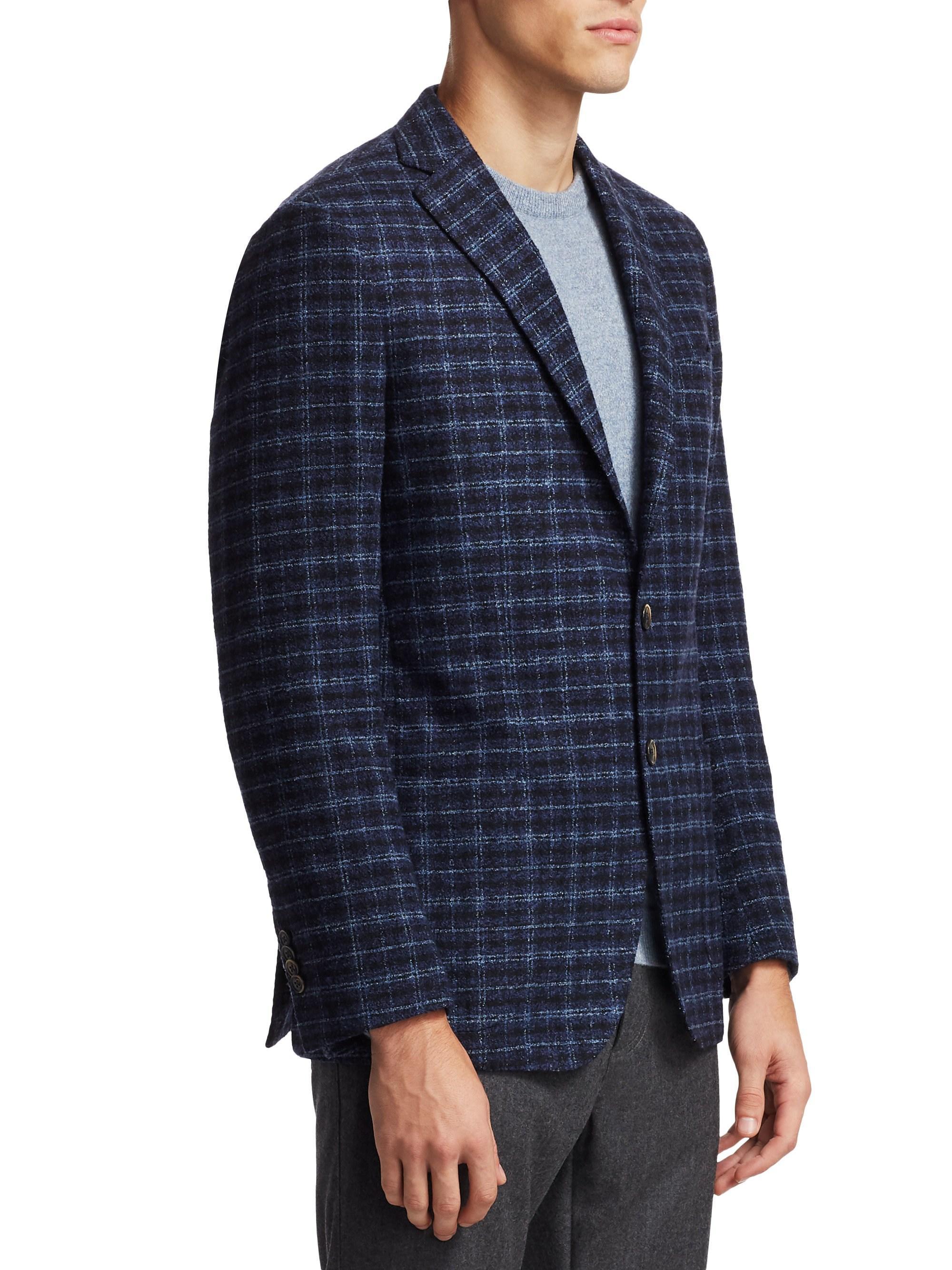 25b79971 Lyst - Saks Fifth Avenue Men's Collection Boucle Plaid Sportcoat ...