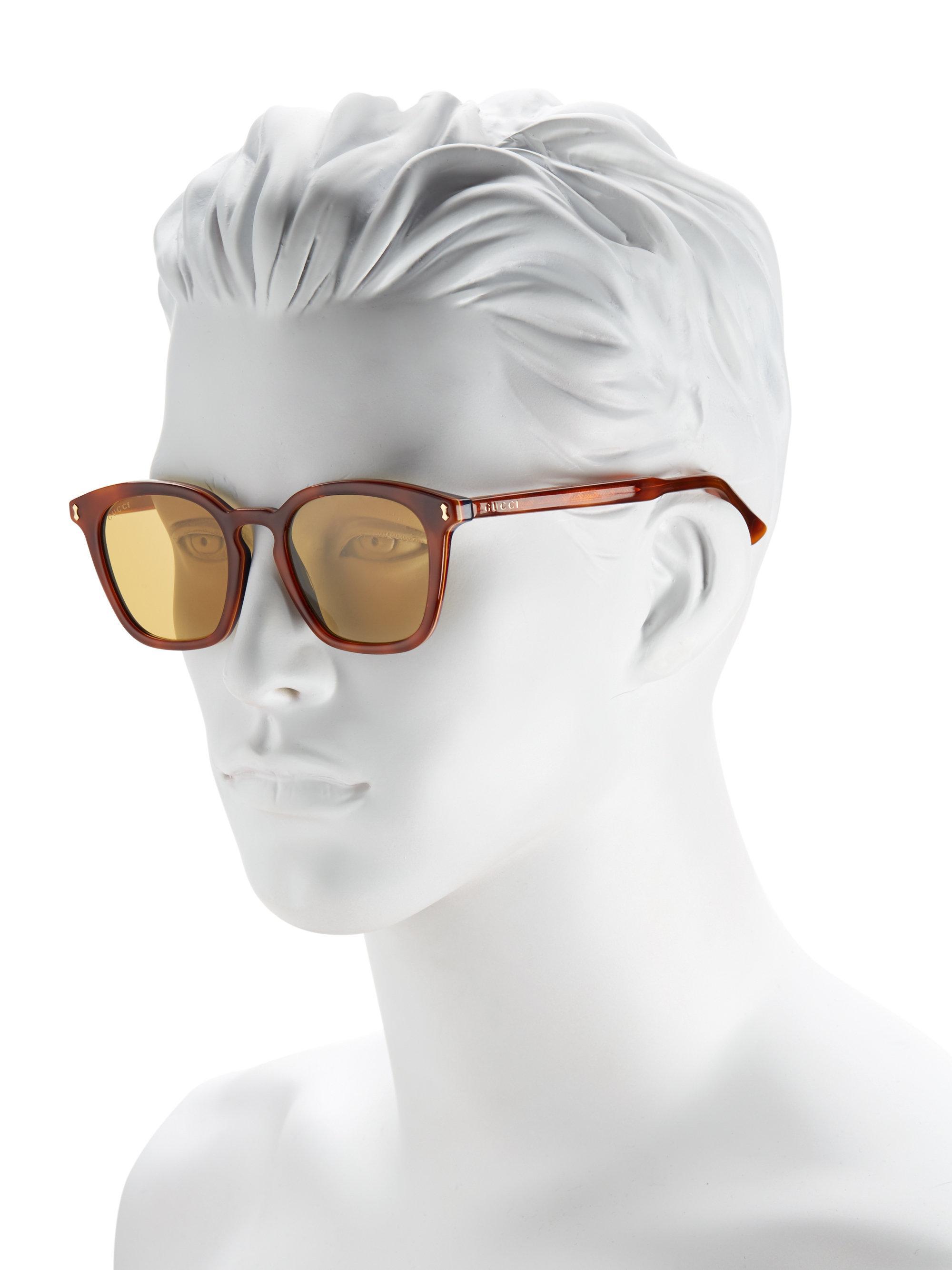 6c7825fb16d10 Gucci 49mm Square Sunglasses for Men - Lyst