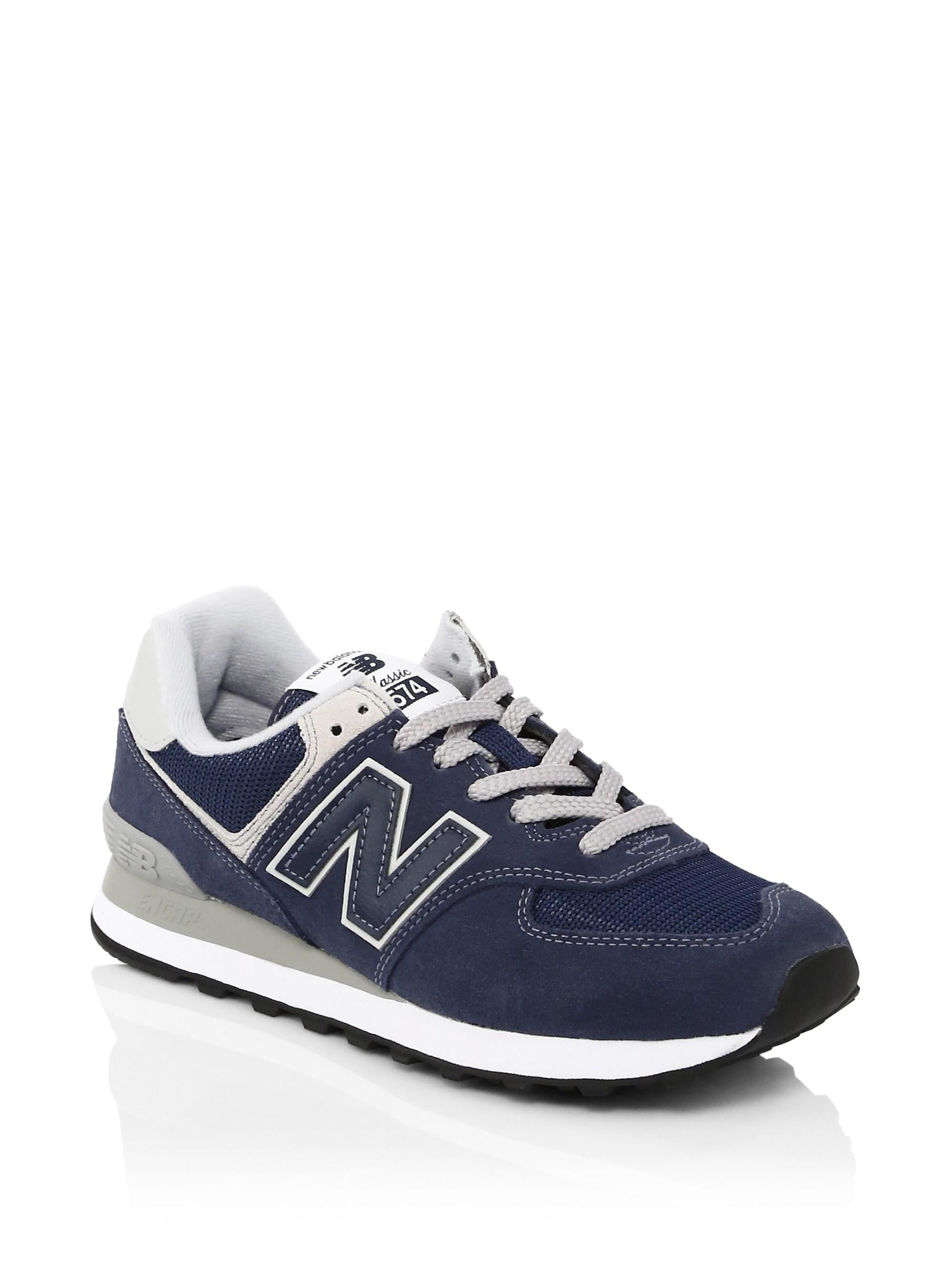 6f86946dfd502 New Balance Suede Mesh Sneakers in Blue for Men - Lyst