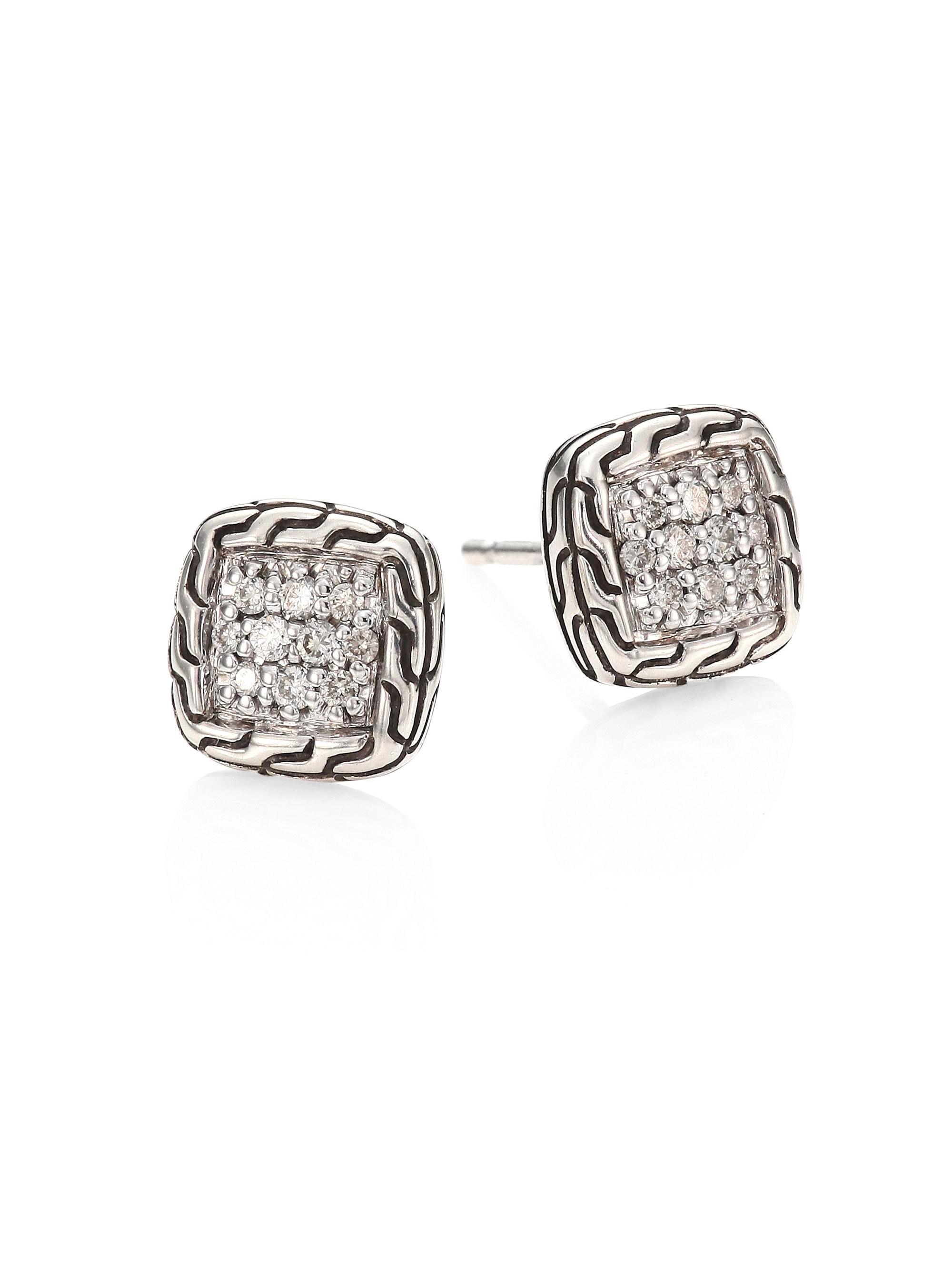 cdc628415 John Hardy. Women's Metallic Classic Chain Diamond & Sterling Silver Stud  Earrings