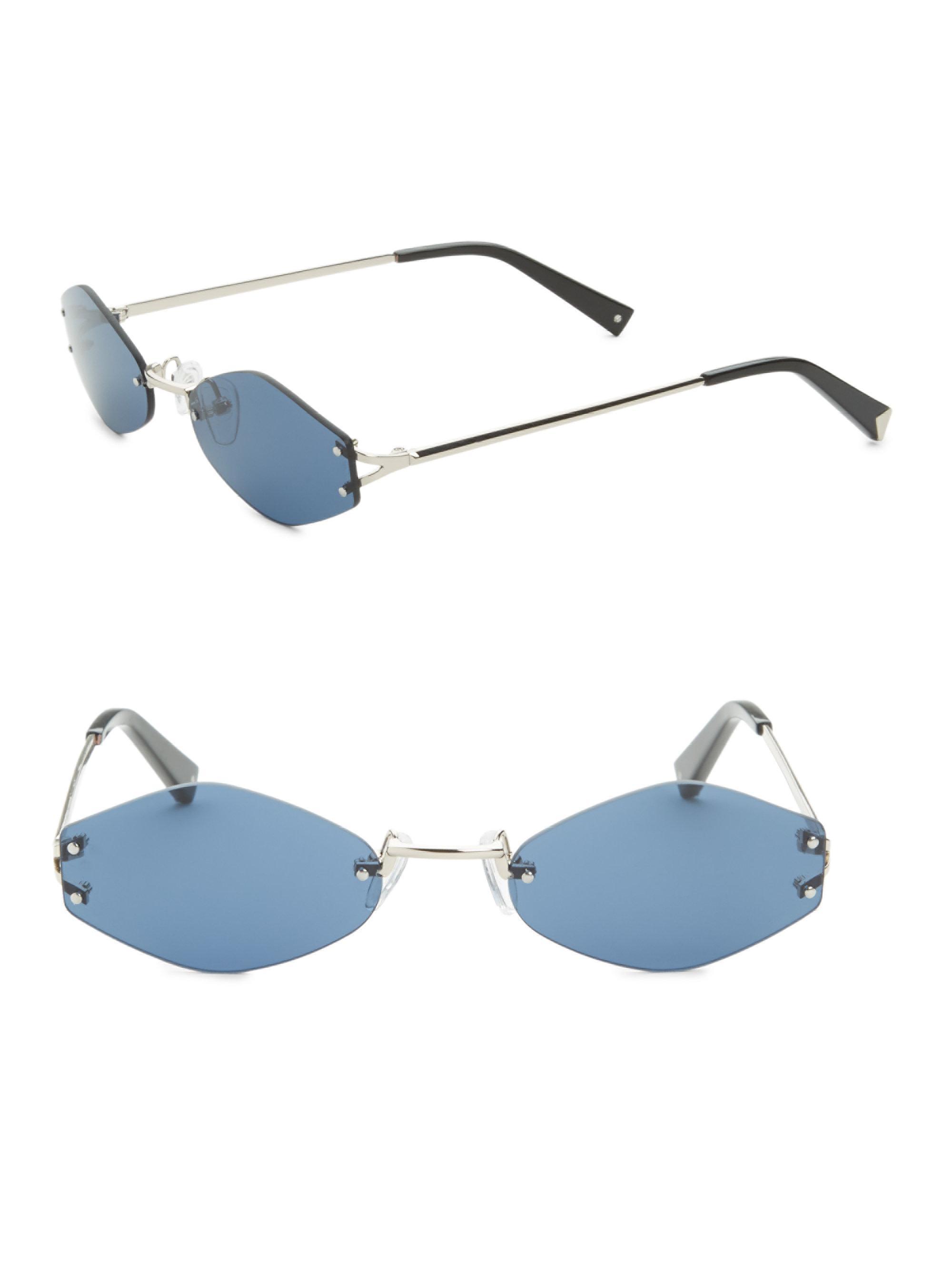 68663f3bfd Lyst - Kendall + Kylie 51mm Geometric Sunglasses in Metallic