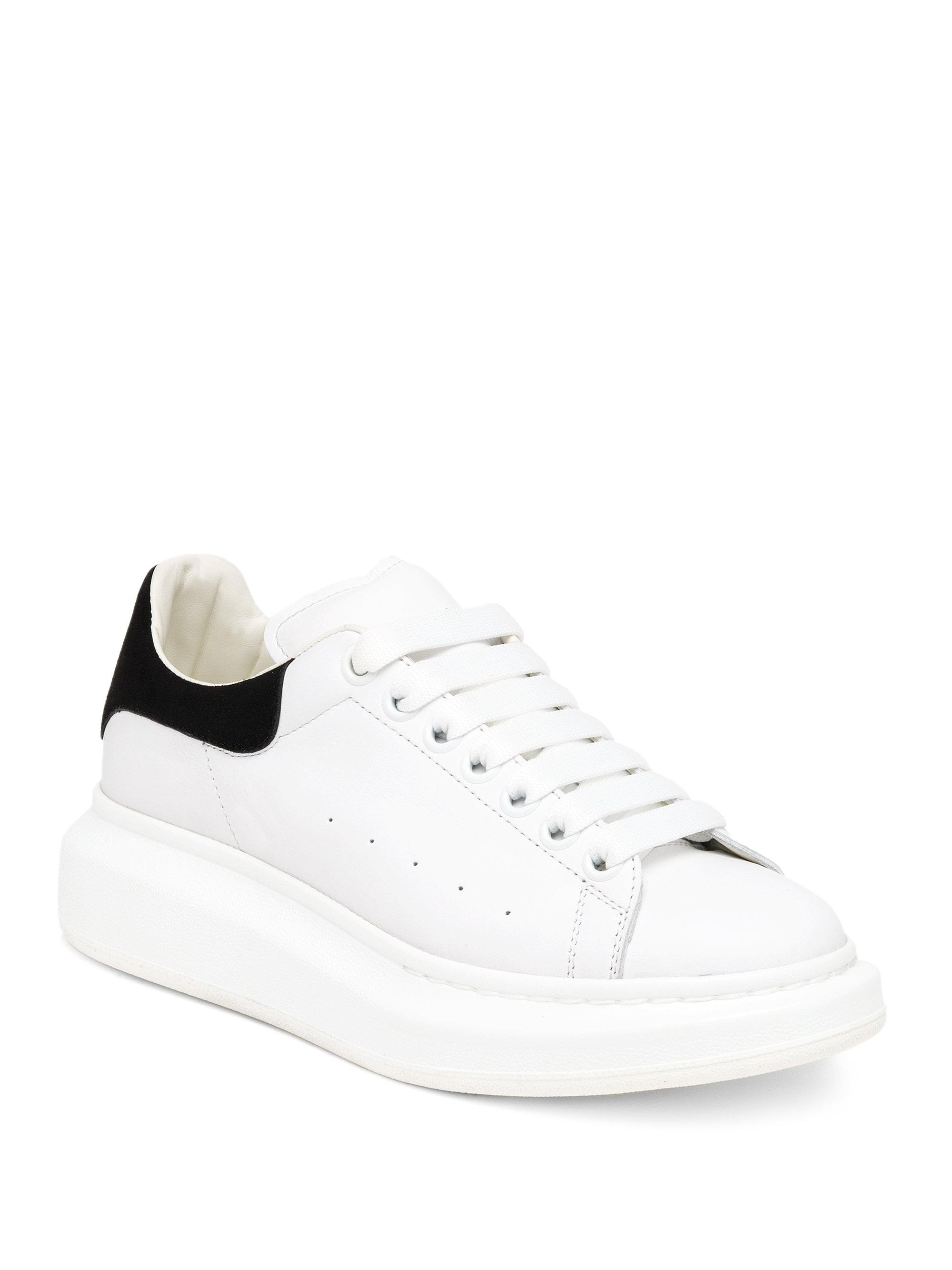 Cheap Usa Stockist Discount Affordable Alexander McQueen Leather platform sneakers Discount New EhQ6k6