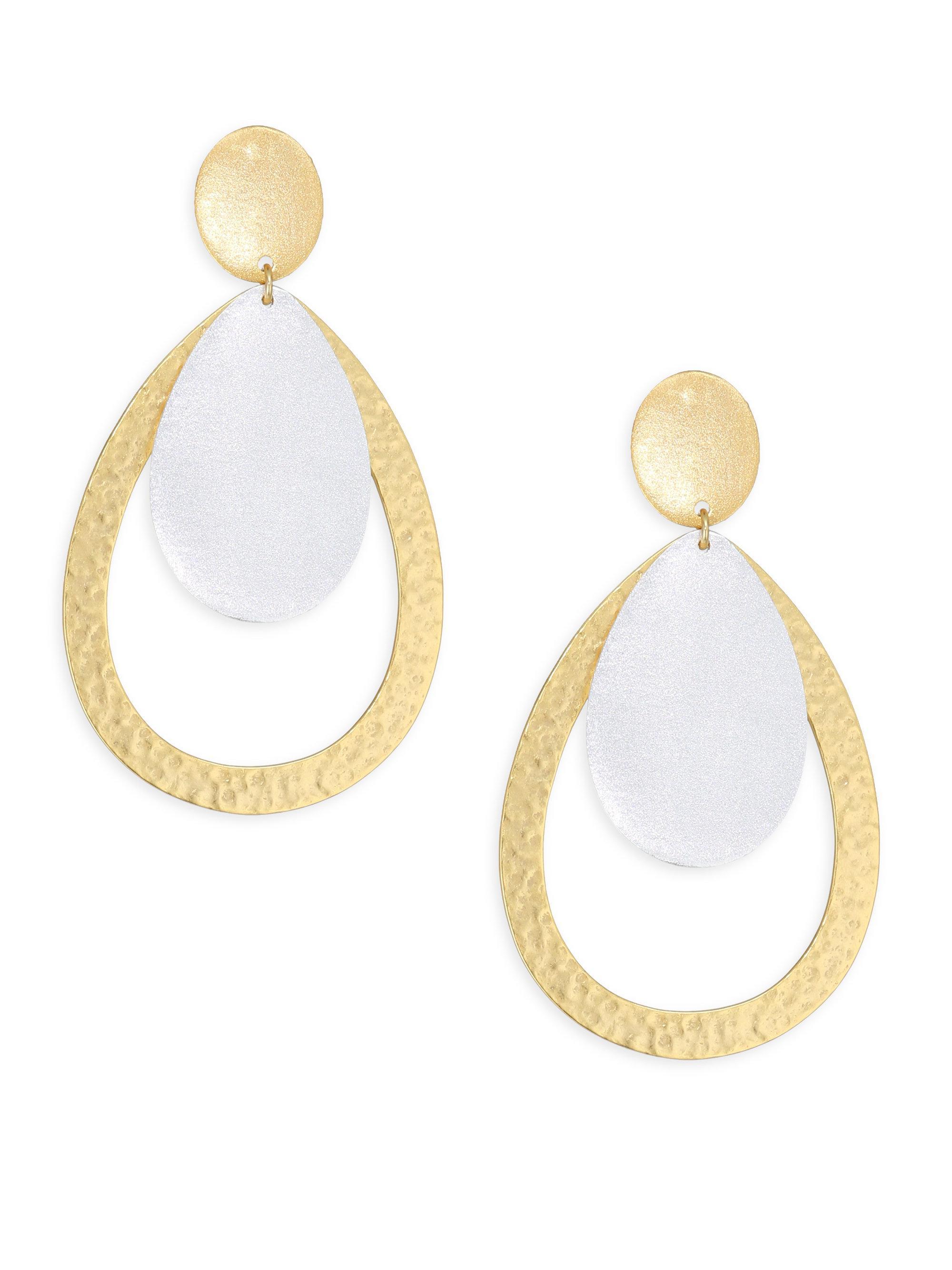 Stephanie Kantis Relic Linear Segment Earrings TWstm22Mn