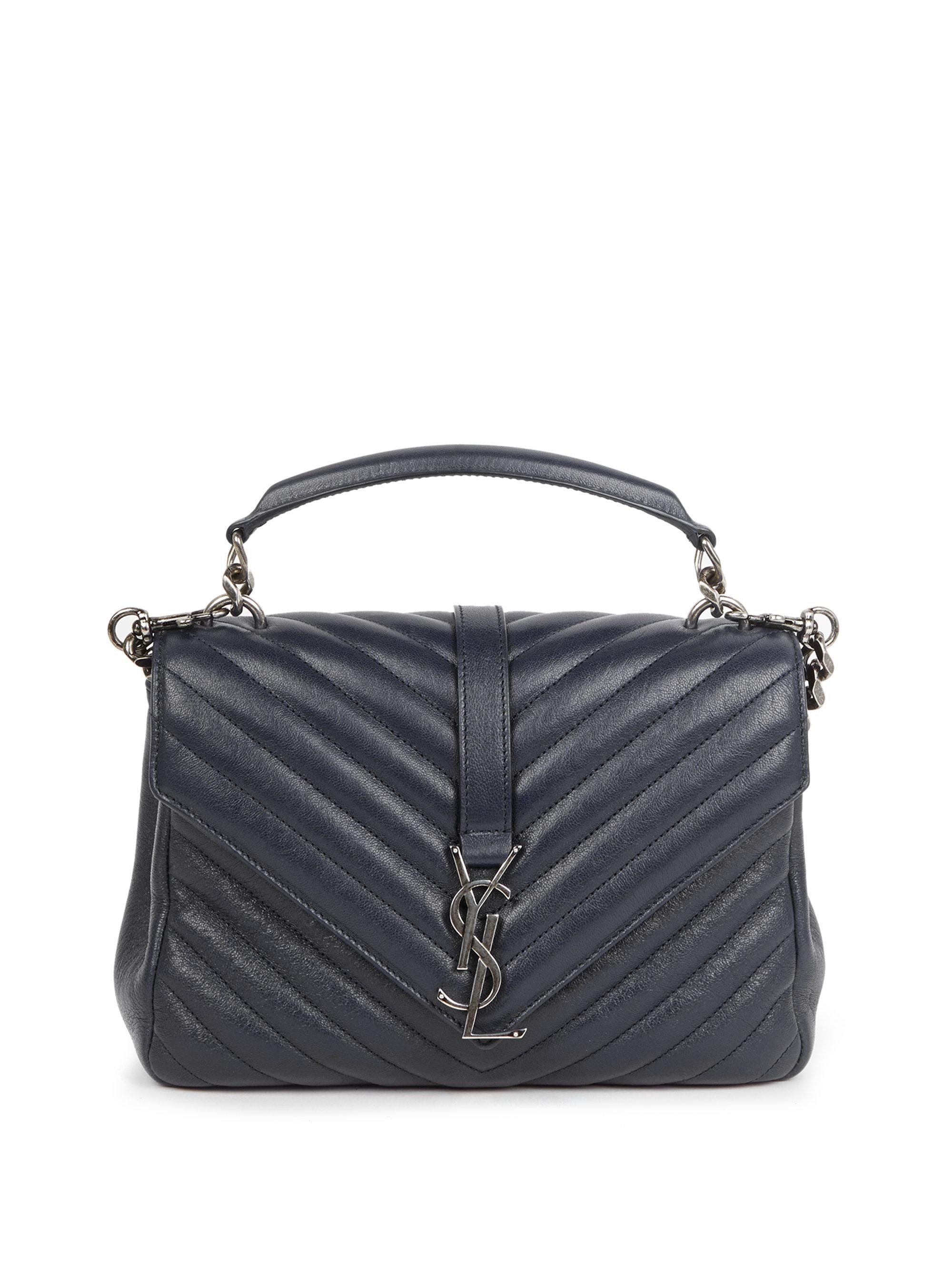 9e93dfaccc26 Saint Laurent. Women s Medium College Monogram Matelasse Leather Shoulder  Bag