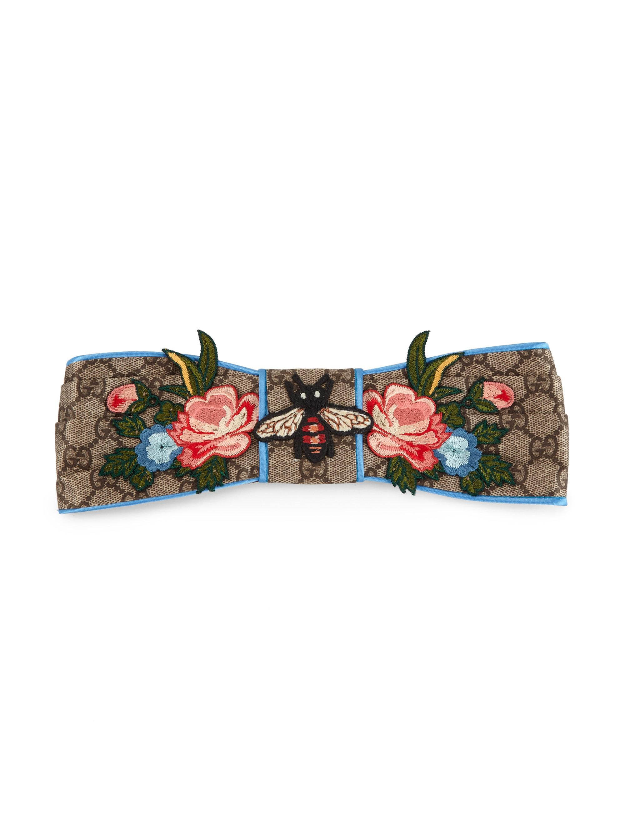 ce85f3638d8 Lyst - Gucci Floral Gg Headband