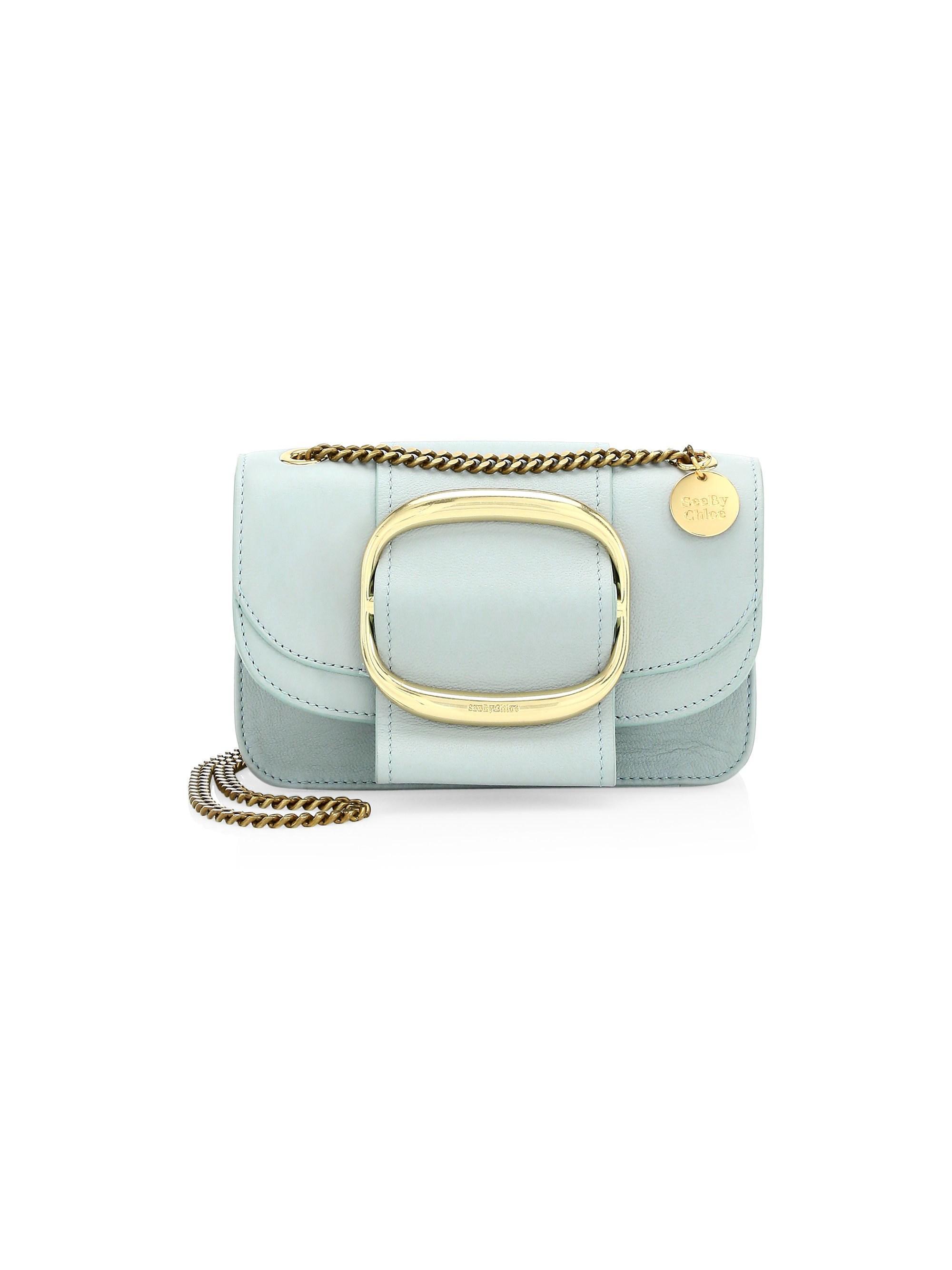 2401dd2a Lyst - See By Chloé Women's Small Hopper Leather Crossbody Bag - Icy ...