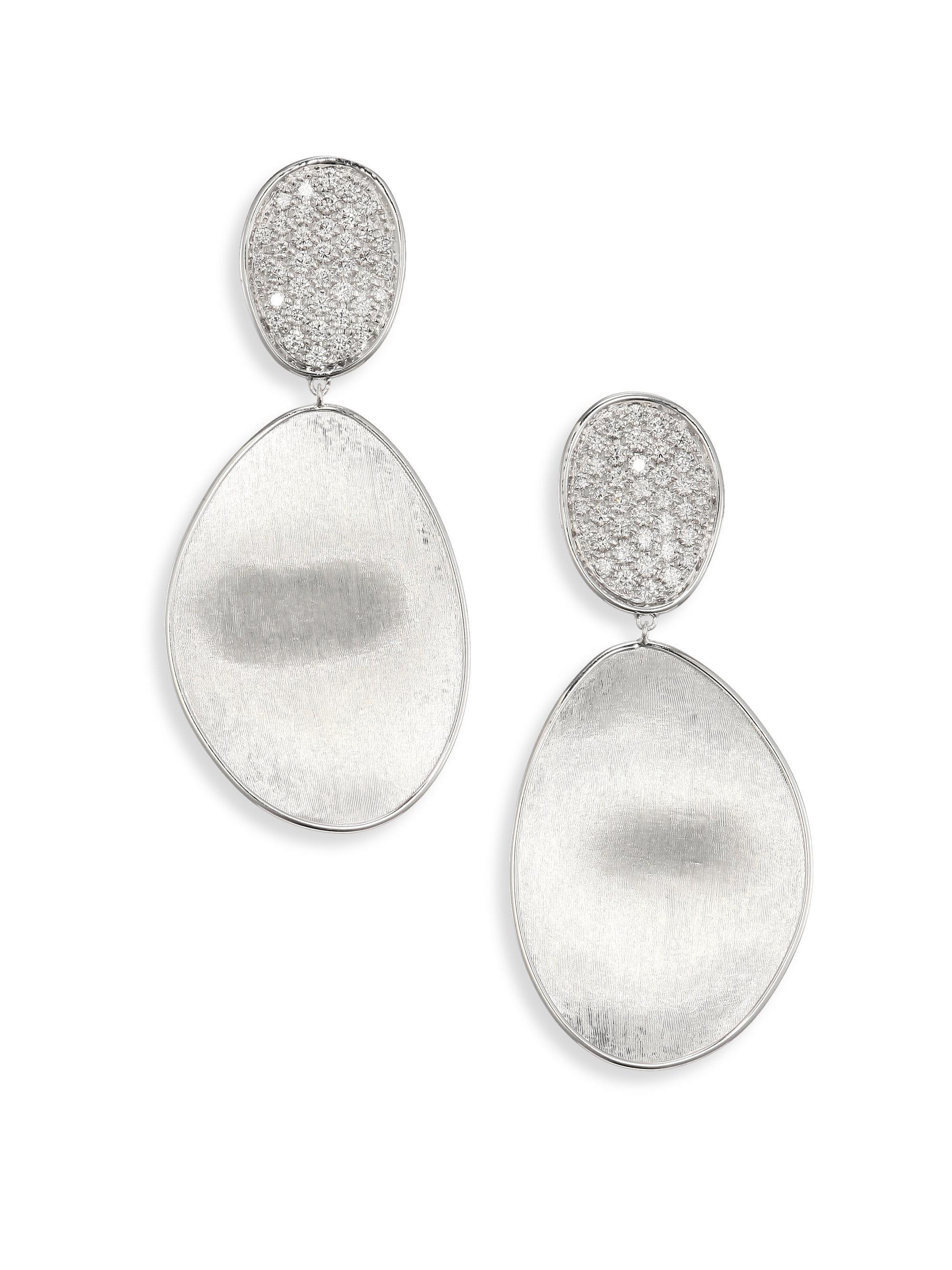Marco Bicego Lunaria Two-Drop Diamond Earrings SNnoj0