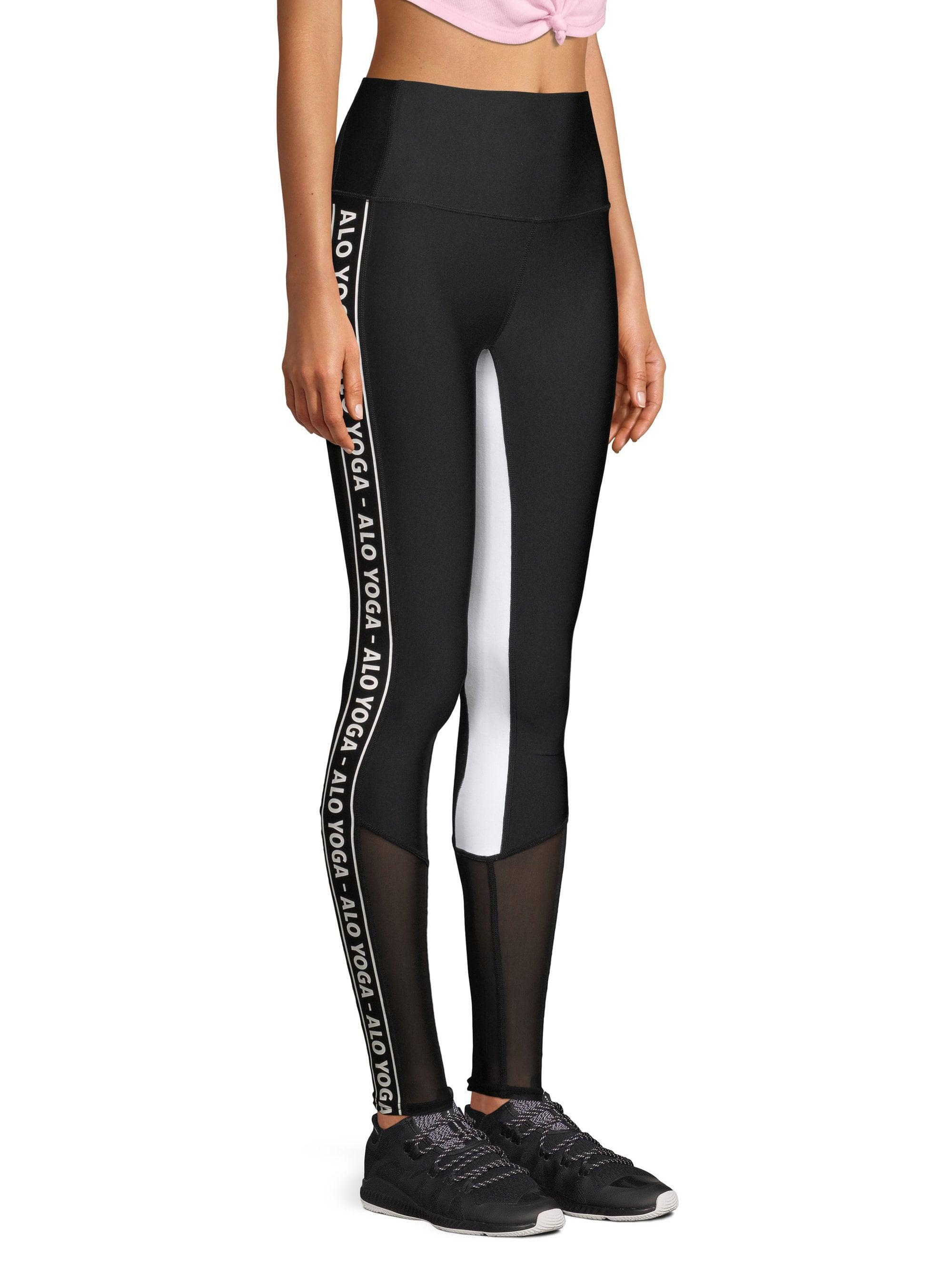 a1130a337b Alo Yoga Trainer Logo Leggings in Black - Lyst