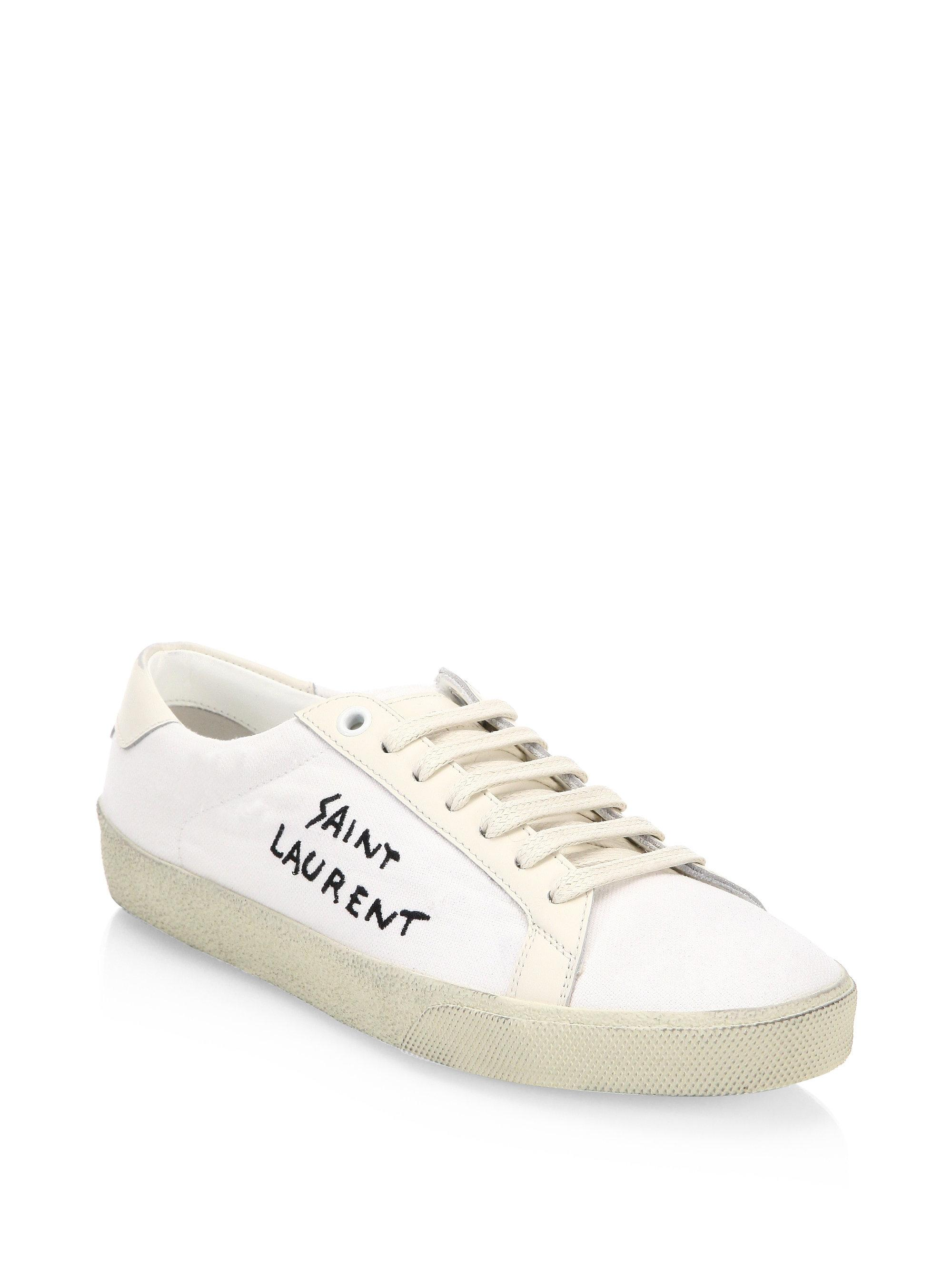 Saint Laurent Vintage Low Top Sneakers 5RxAdy