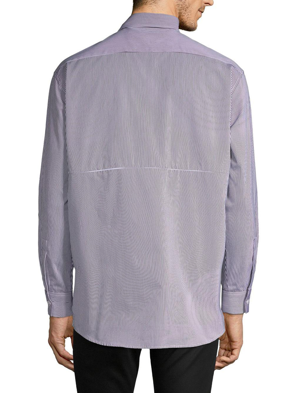 fd609beeef2a Lyst - Off-White c o Virgil Abloh Striped Button-down Shirt in Blue for Men