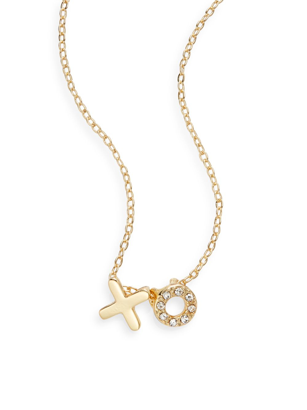 jules smith xo pendant necklace in metallic gold