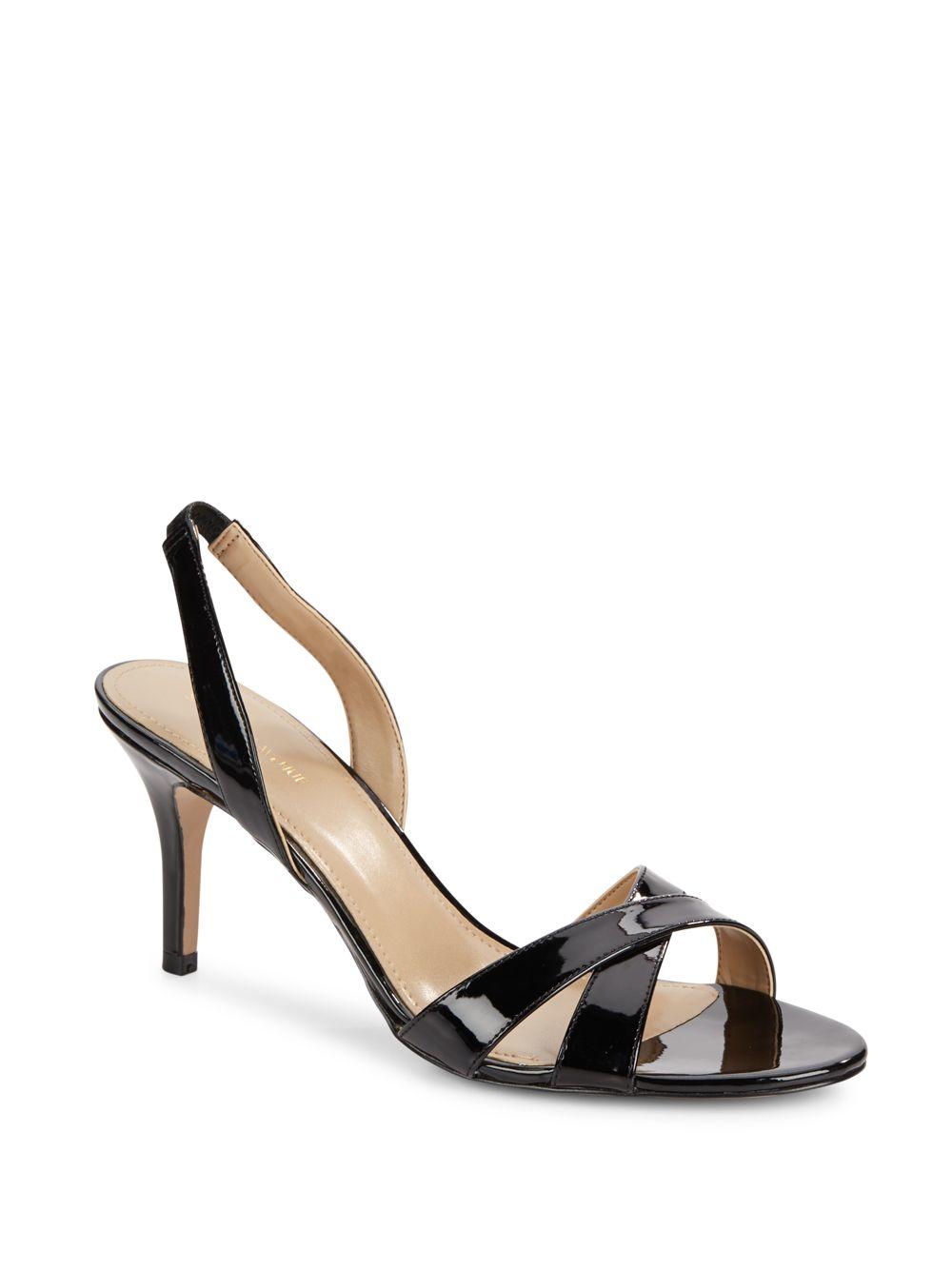 saks fifth avenue lolynn slingback high heel sandals in