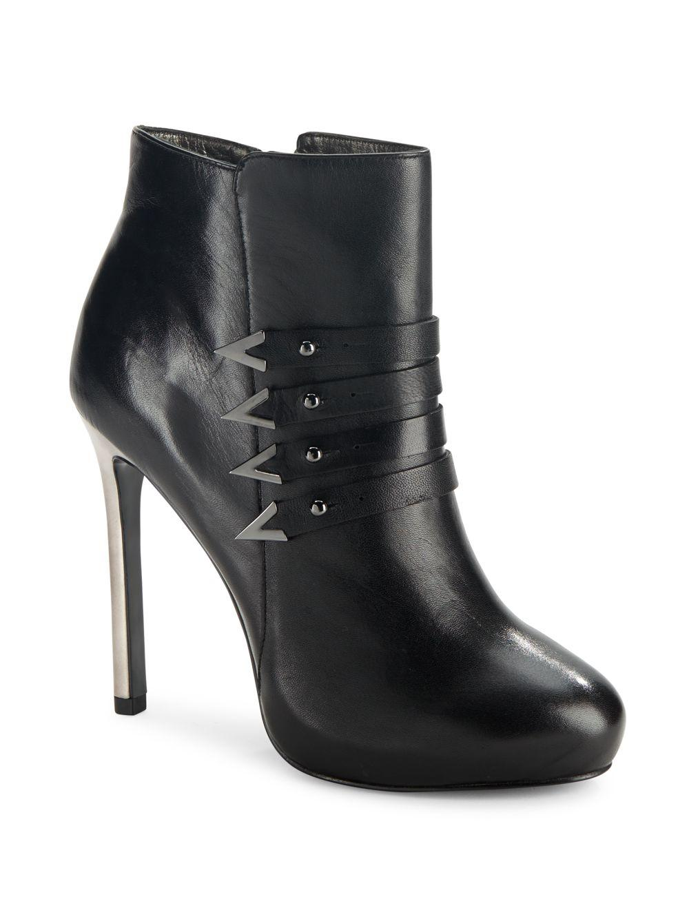 Versace Jeans Leather Ankle Boots In Natural Lyst