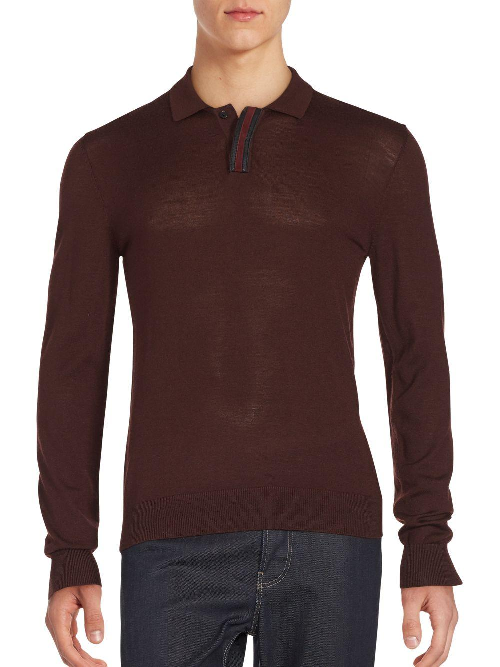 The kooples spread collar long sleeve t shirt in purple for Men s spread collar shirts
