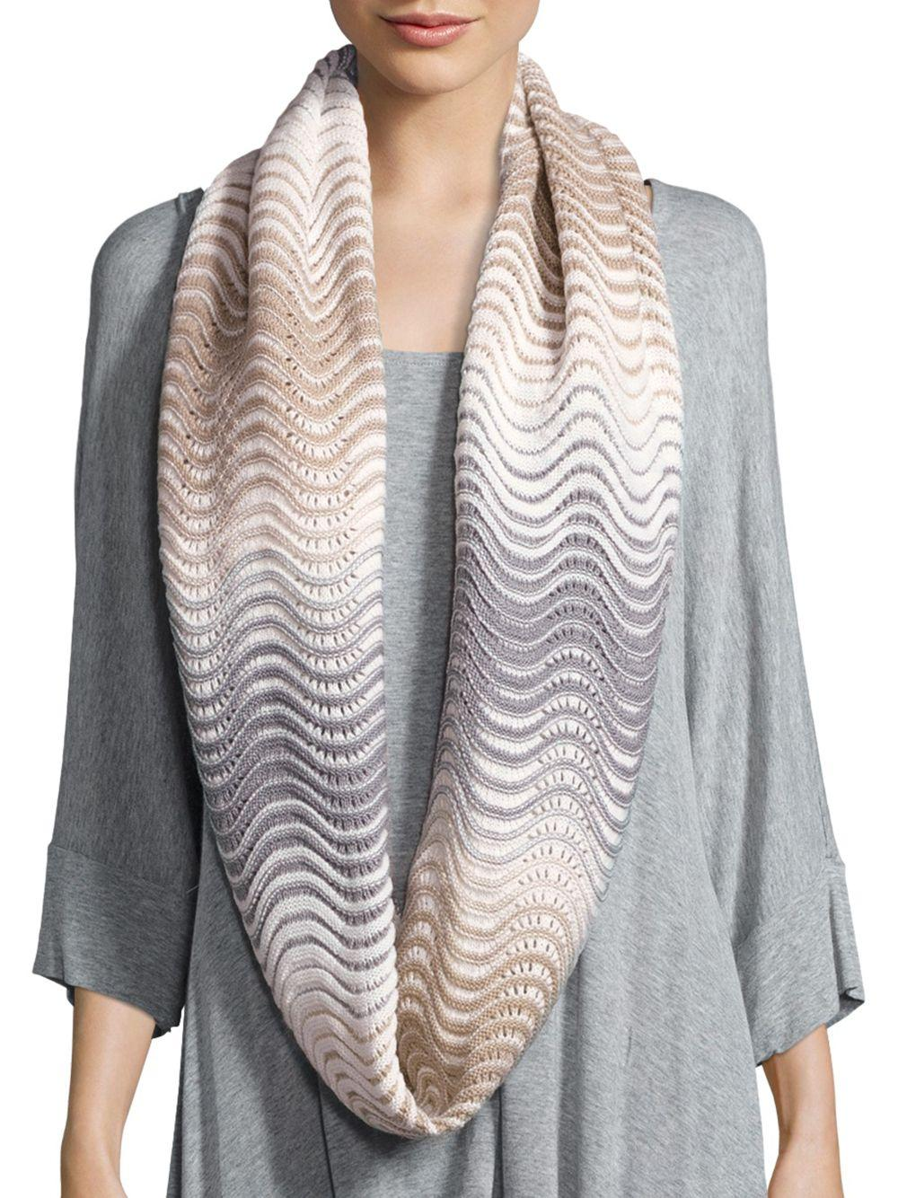 calvin klein rippled infinity scarf in gray lyst