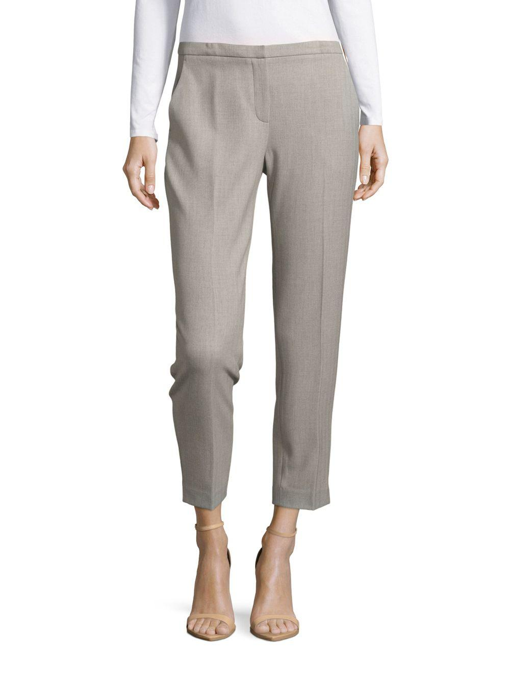 Lyst Elie Tahari Maura Cropped Pants In Gray